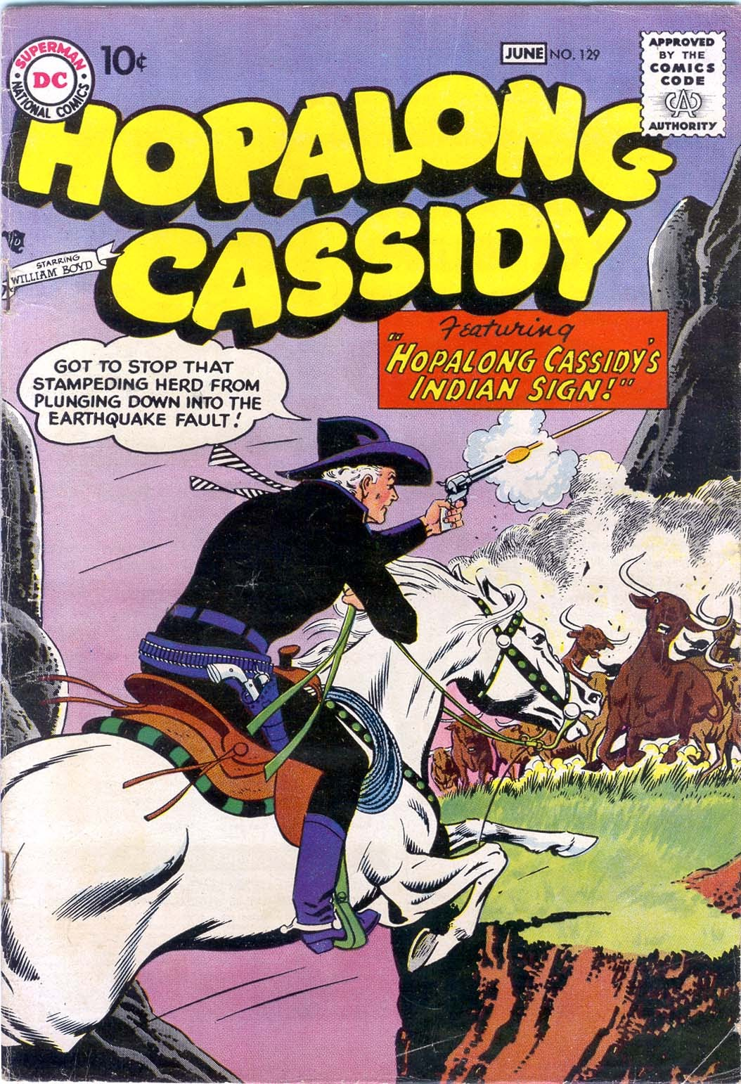 Hopalong Cassidy issue 129 - Page 1
