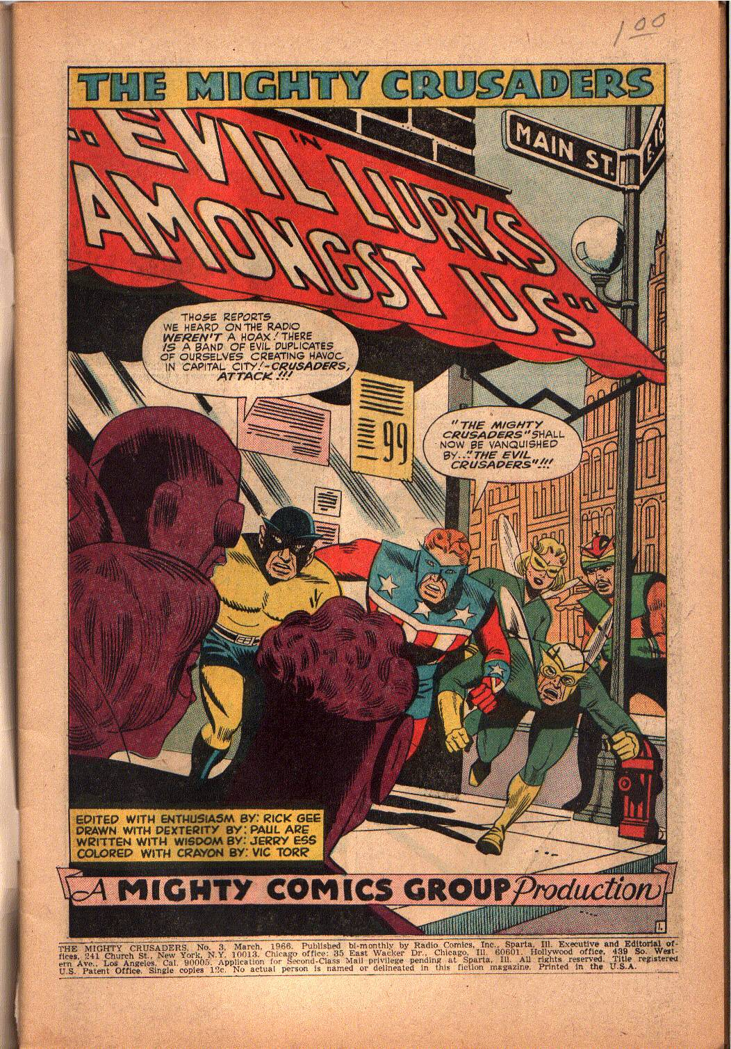 The Mighty Crusaders (1965) Issue #3 #3 - English 2