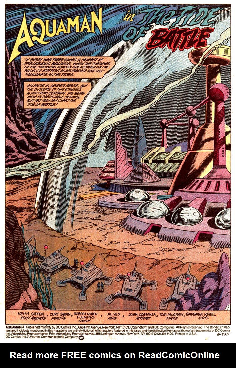 Read online Aquaman (1989) comic -  Issue #4 - 2