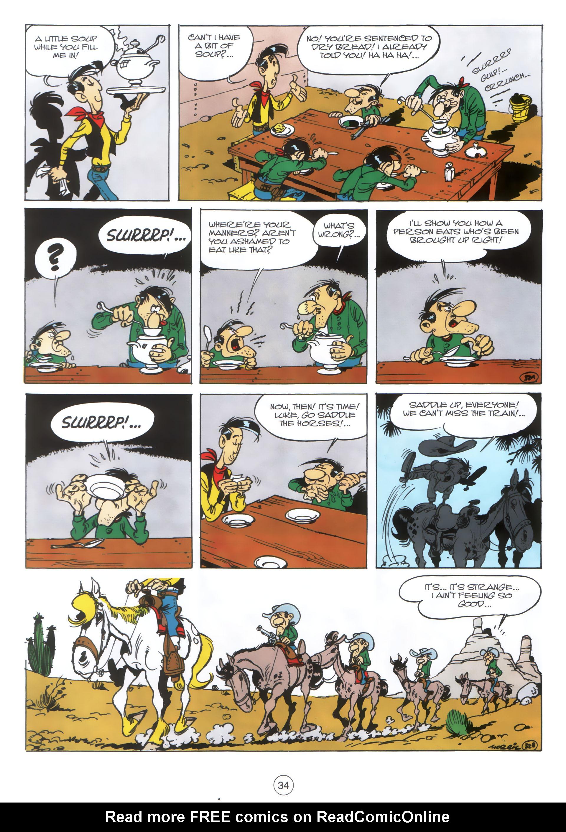 Read online A Lucky Luke Adventure comic -  Issue #30 - 33