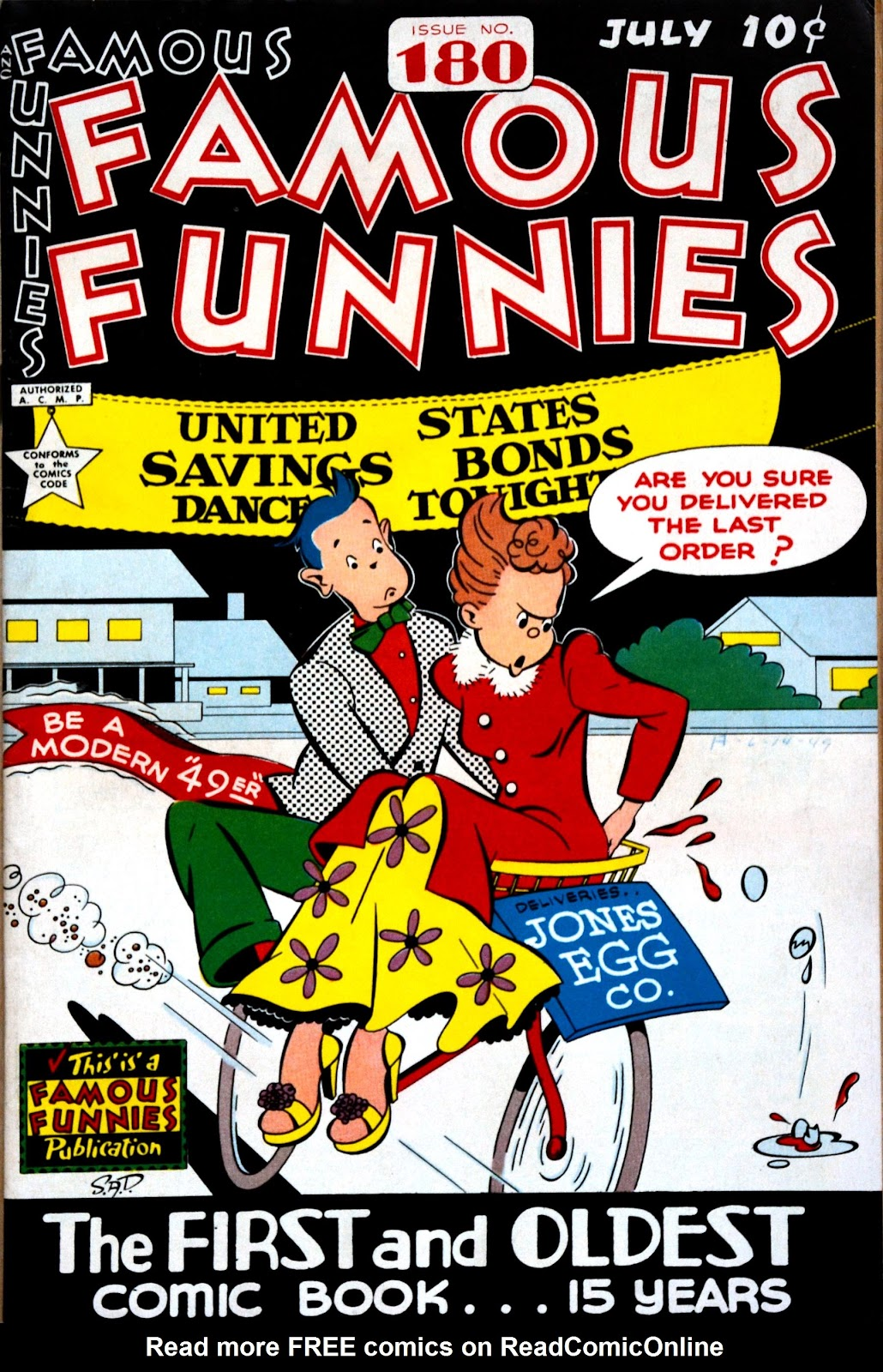 Read online Famous Funnies comic -  Issue #180 - 1