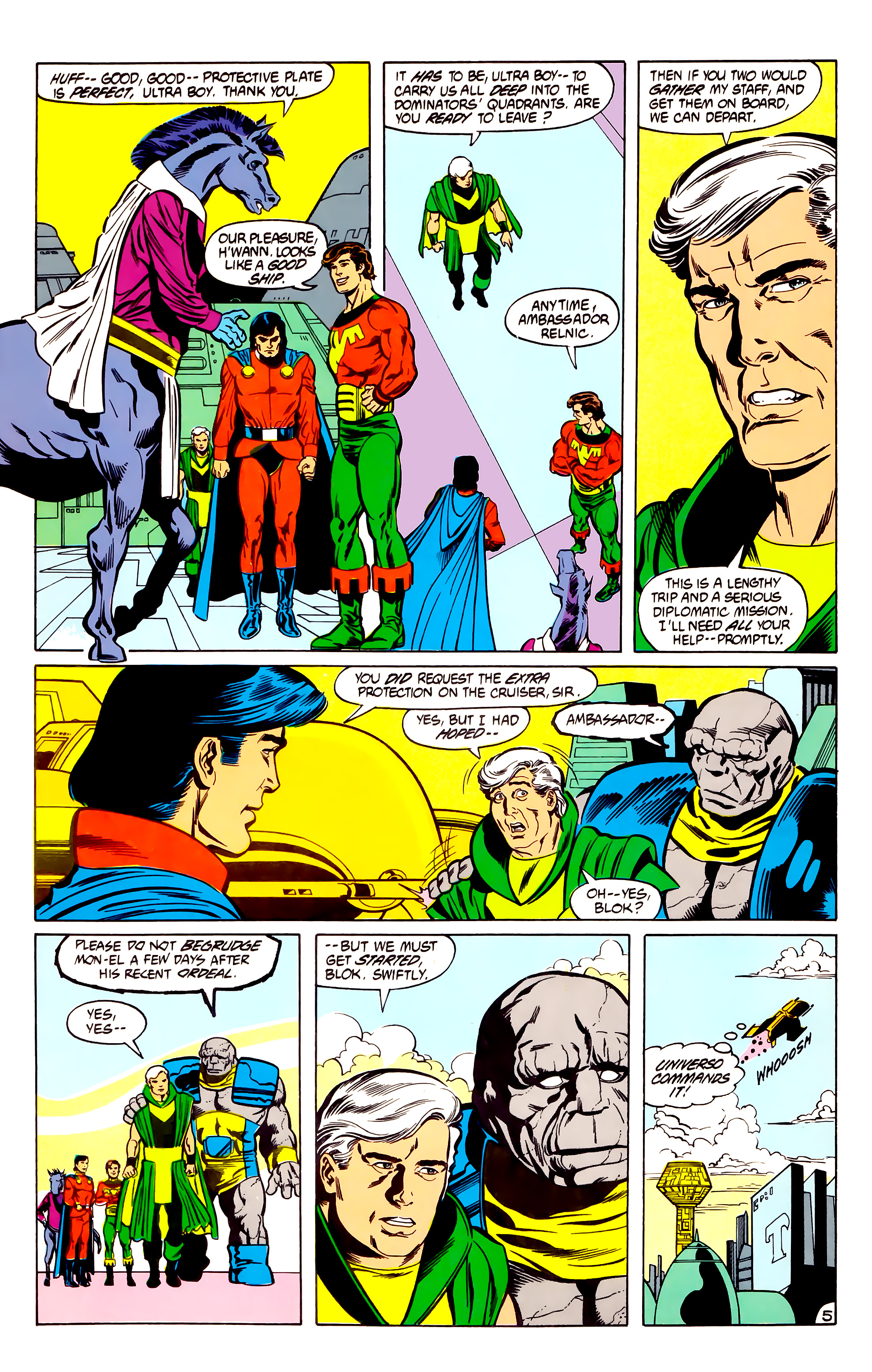 Legion of Super-Heroes (1984) 30 Page 5