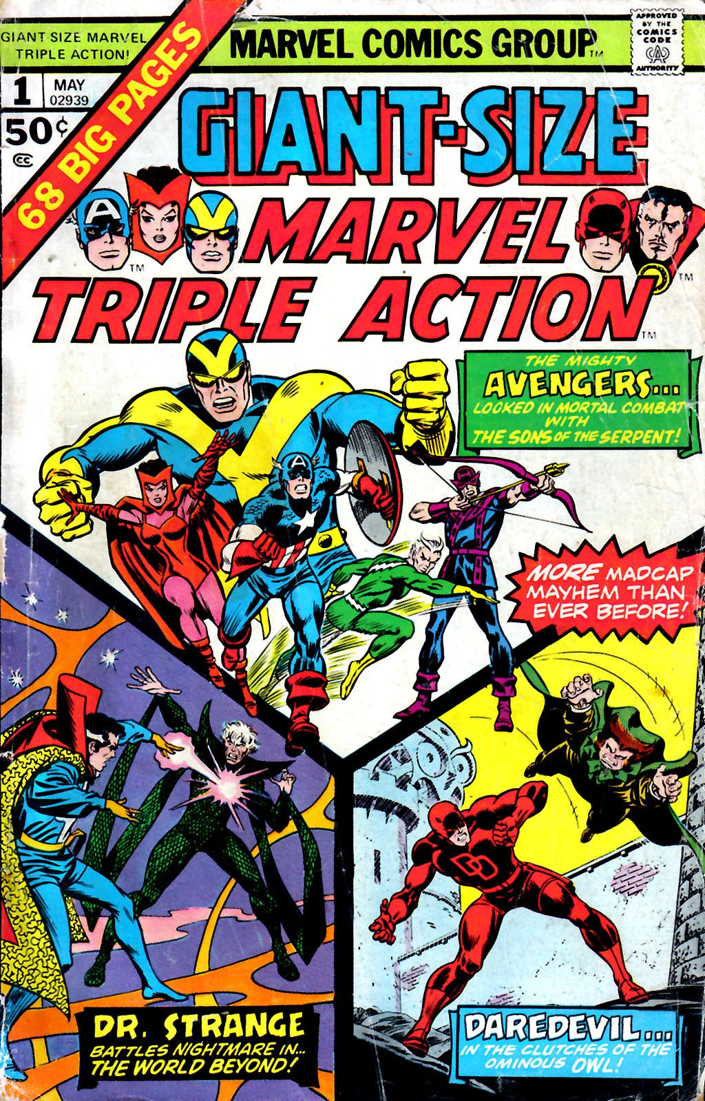 Giant-Size Marvel Triple Action 1 Page 1