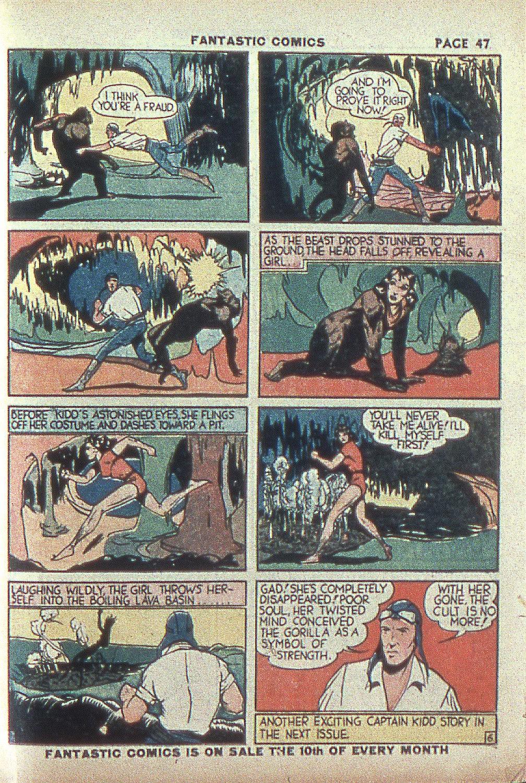 Read online Fantastic Comics comic -  Issue #4 - 48