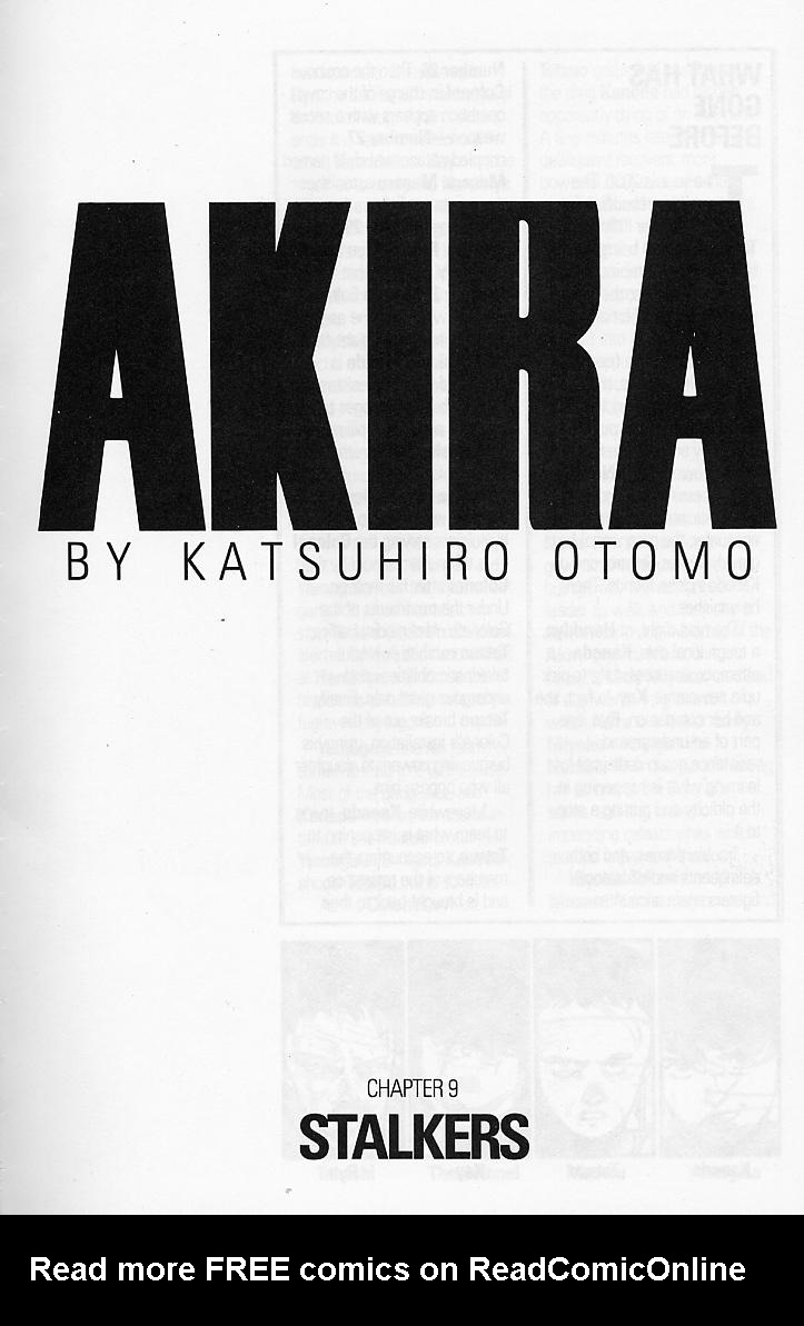 Read online Akira comic -  Issue #9 - 3