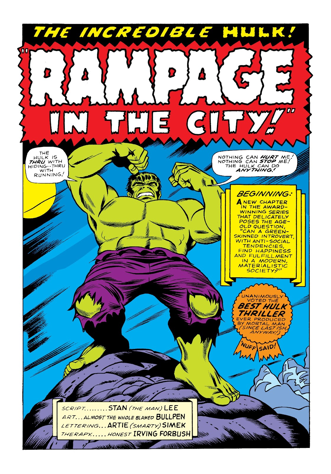 Read online Marvel Masterworks: The Incredible Hulk comic -  Issue # TPB 3 (Part 1) - 52
