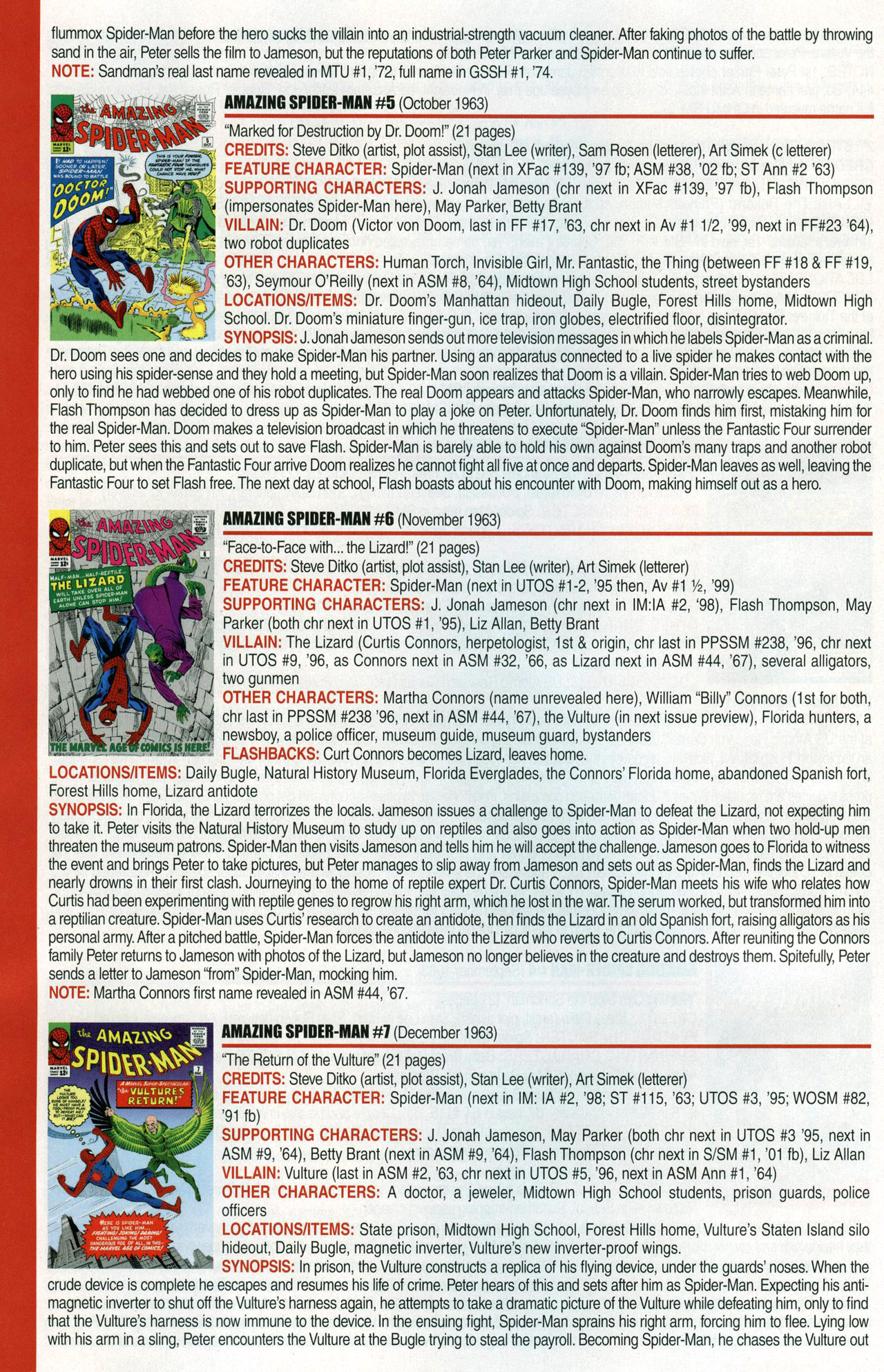 Read online Official Index to the Marvel Universe comic -  Issue #1 - 6