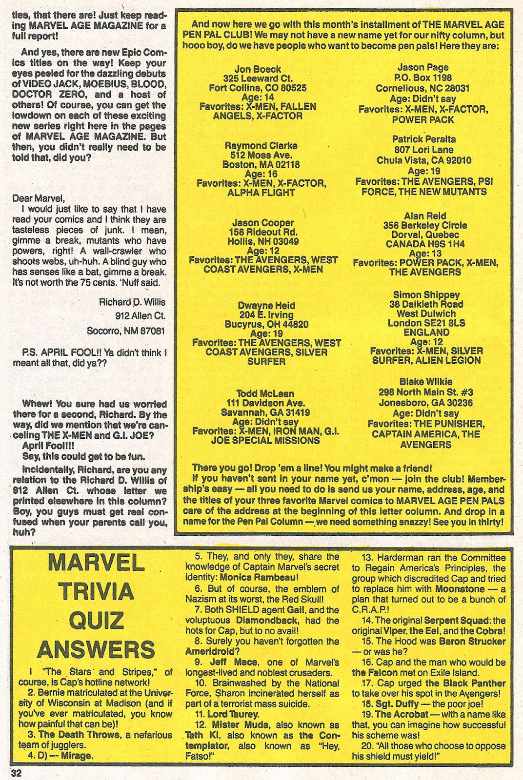 Comic Marvel Age issue 61