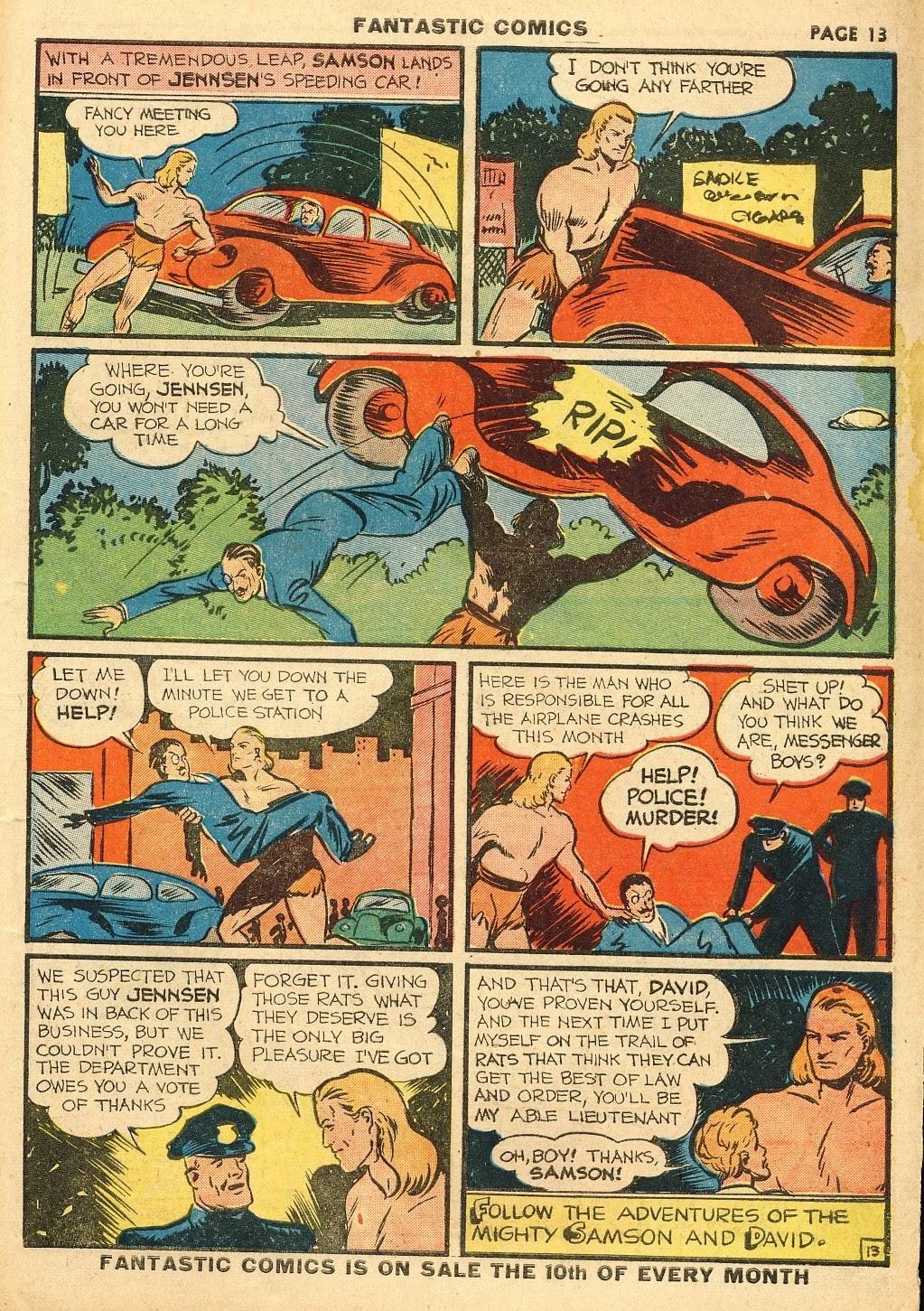 Read online Fantastic Comics comic -  Issue #10 - 14