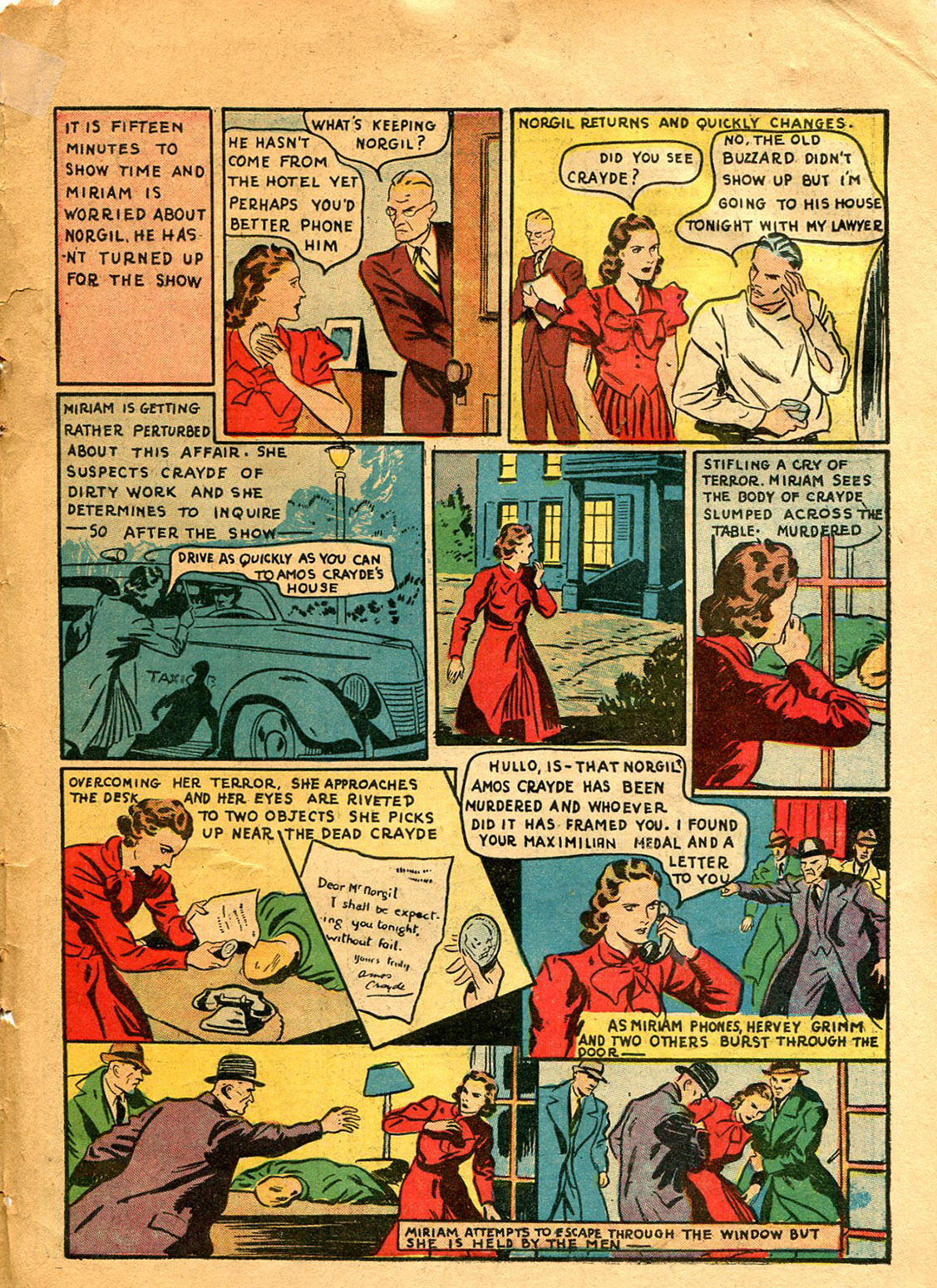 Read online Shadow Comics comic -  Issue #9 - 51