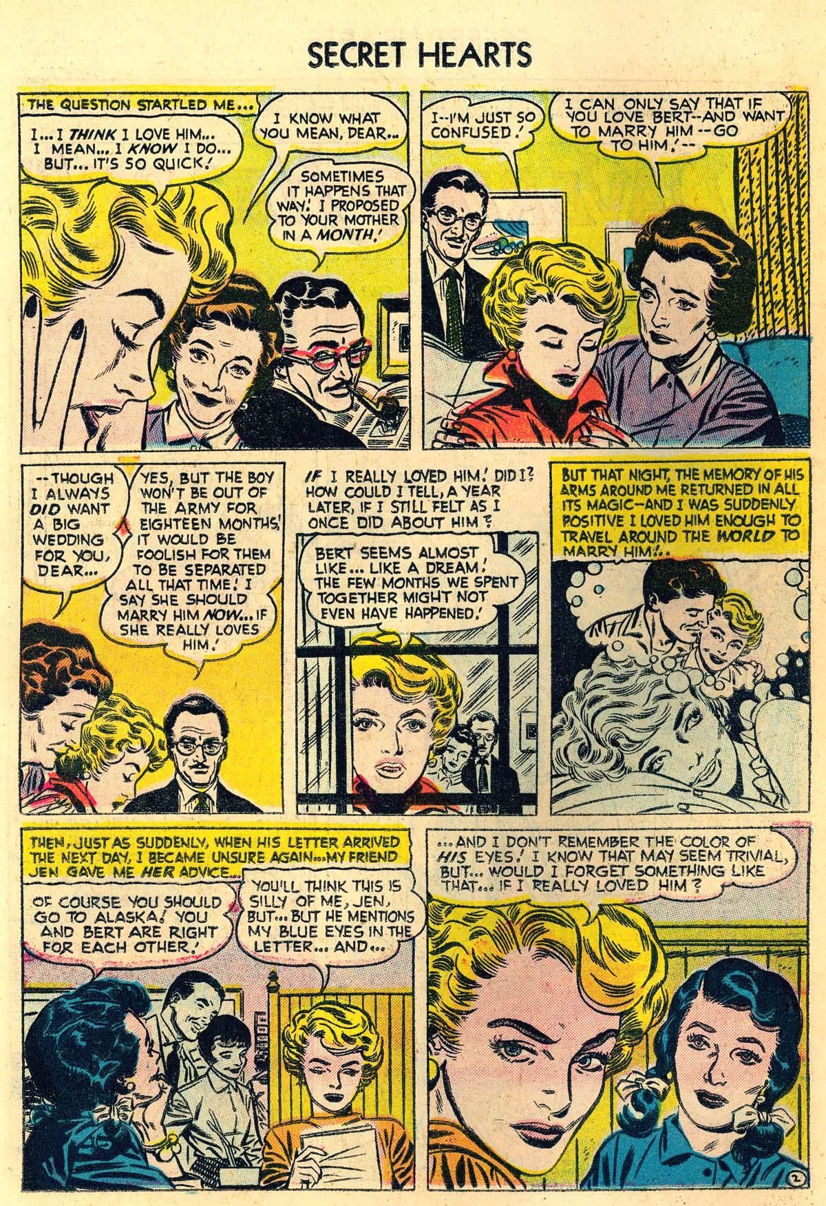 Read online Secret Hearts comic -  Issue #30 - 20