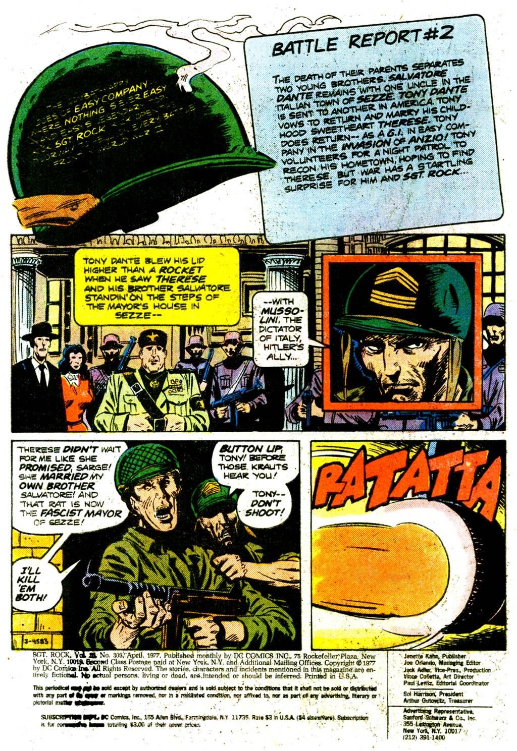 Read online Sgt. Rock comic -  Issue #303 - 3