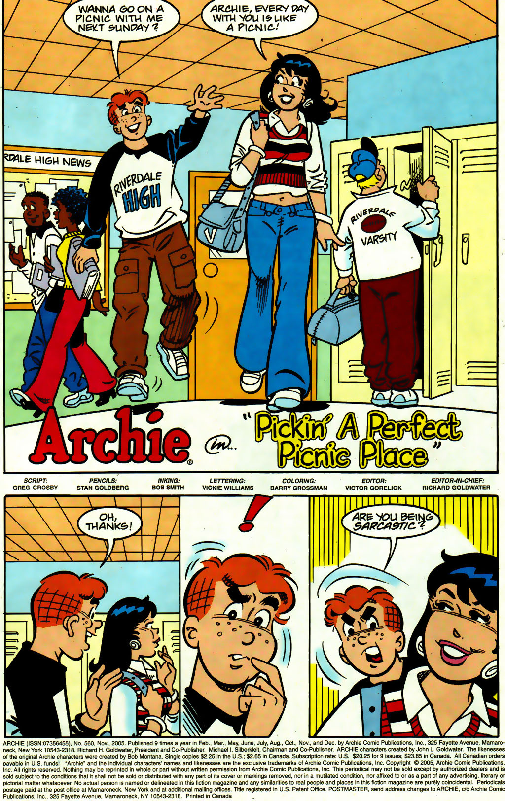 Read online Archie (1960) comic -  Issue #560 - 2