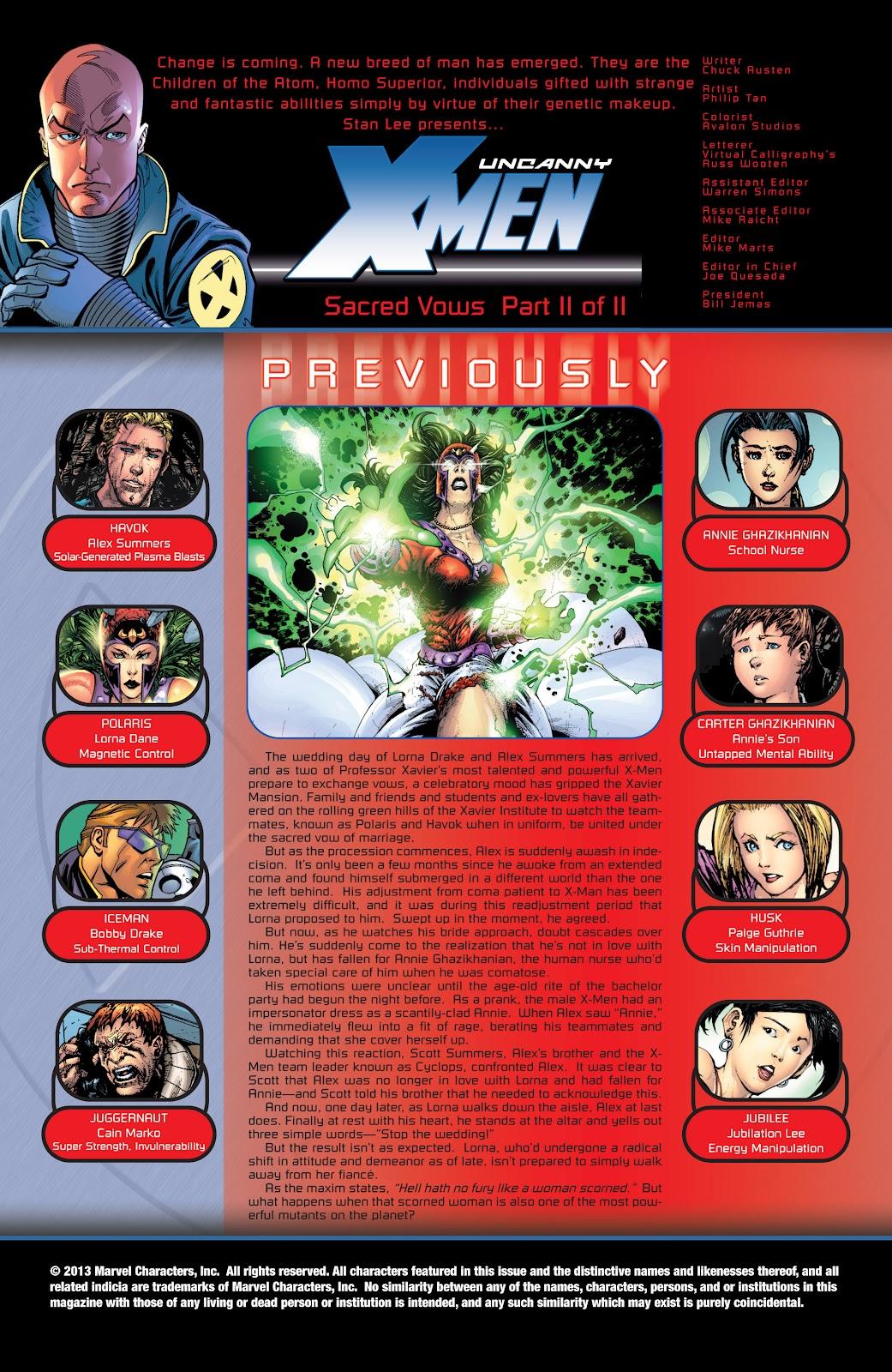 Uncanny X-Men (1963) issue 426 - Page 2