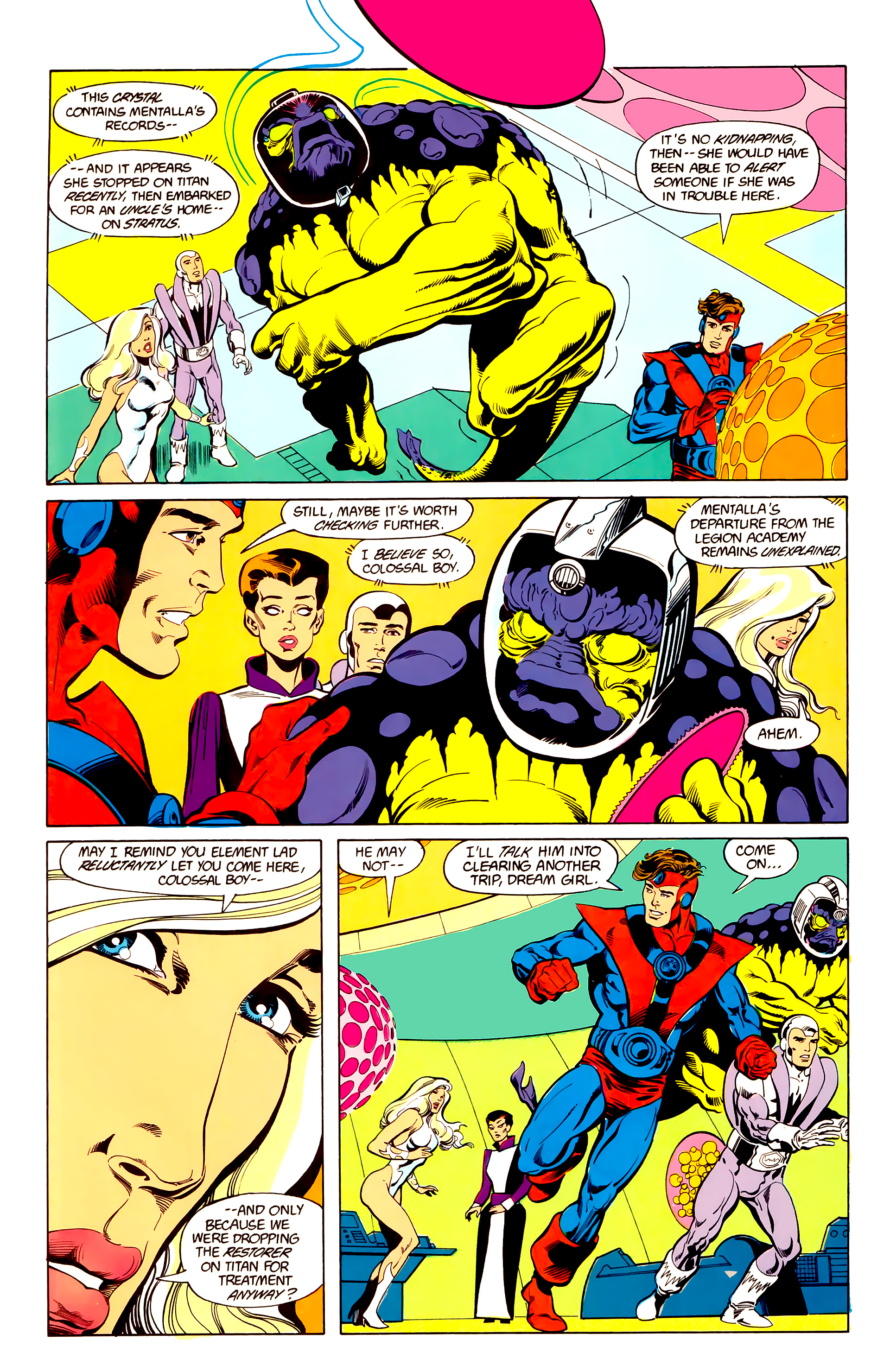 Legion of Super-Heroes (1984) 25 Page 10