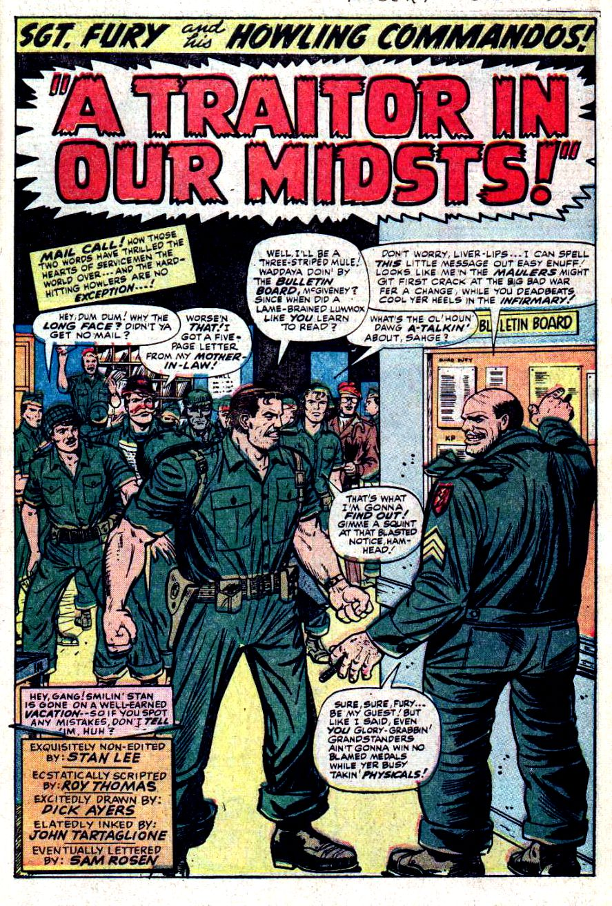 Read online Sgt. Fury comic -  Issue #32 - 3