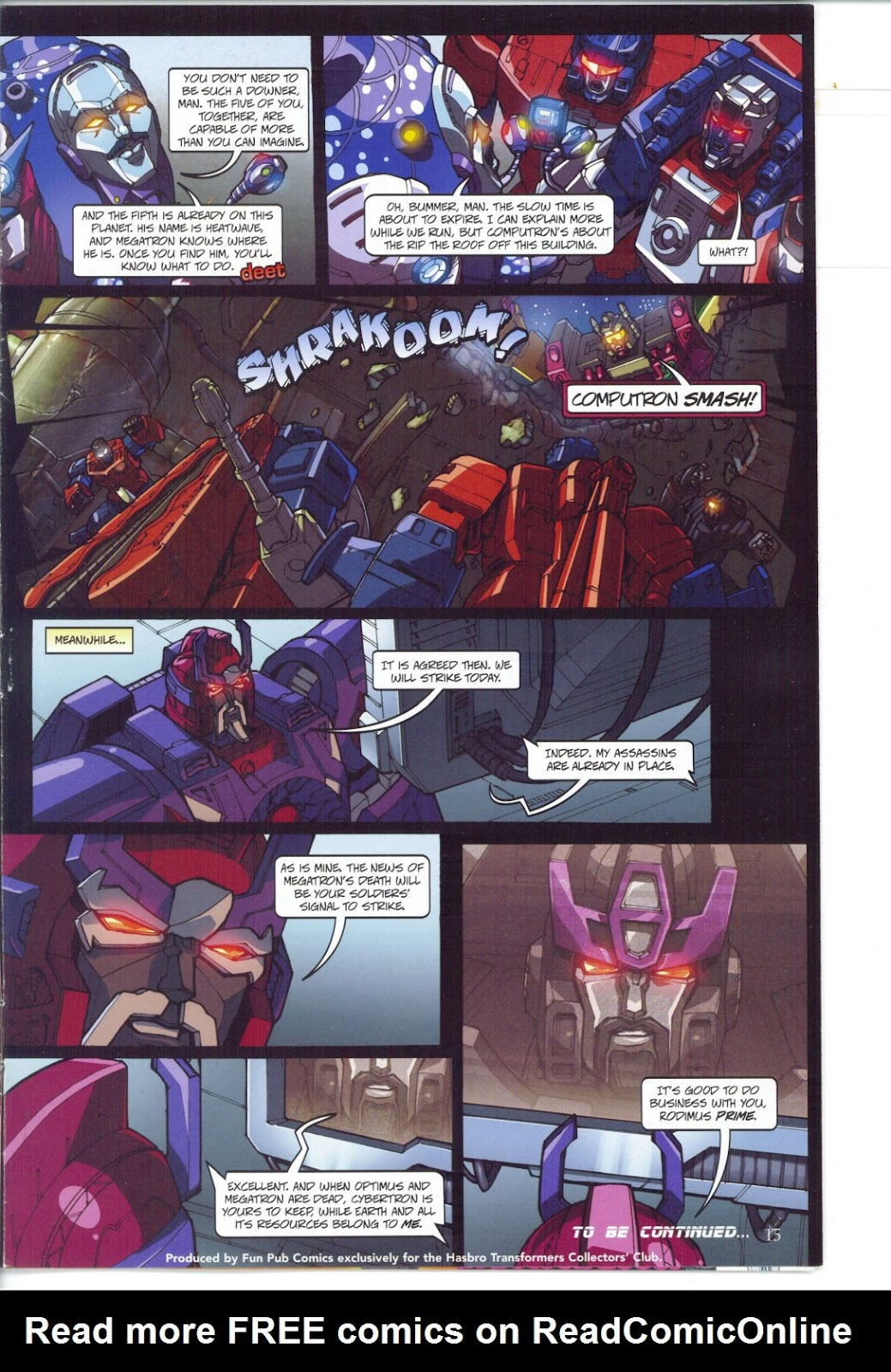 Read online Transformers: Collectors' Club comic -  Issue #27 - 15