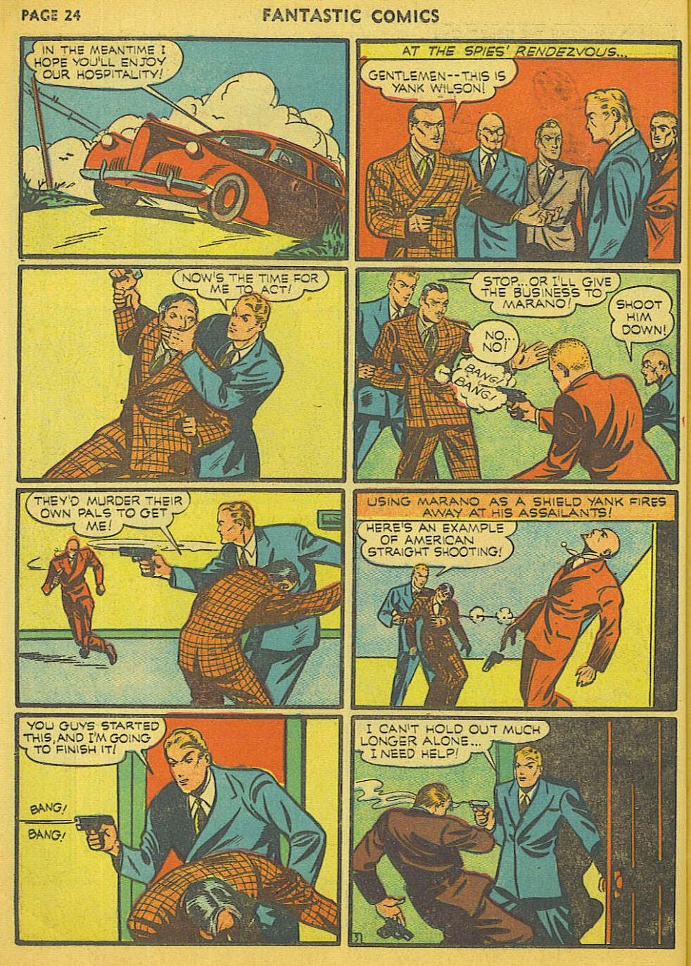 Read online Fantastic Comics comic -  Issue #15 - 18