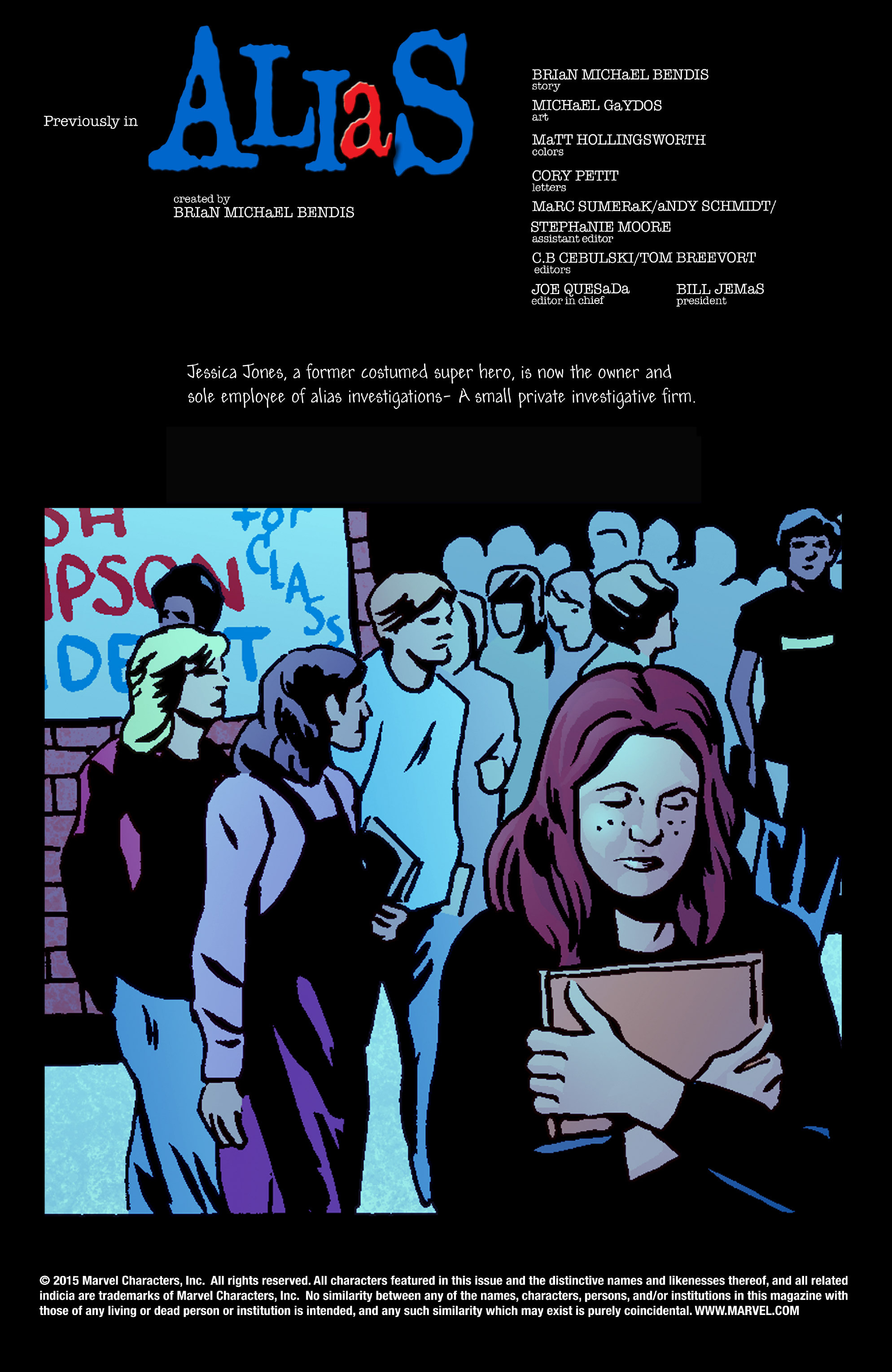 Read online Alias comic -  Issue #23 - 2