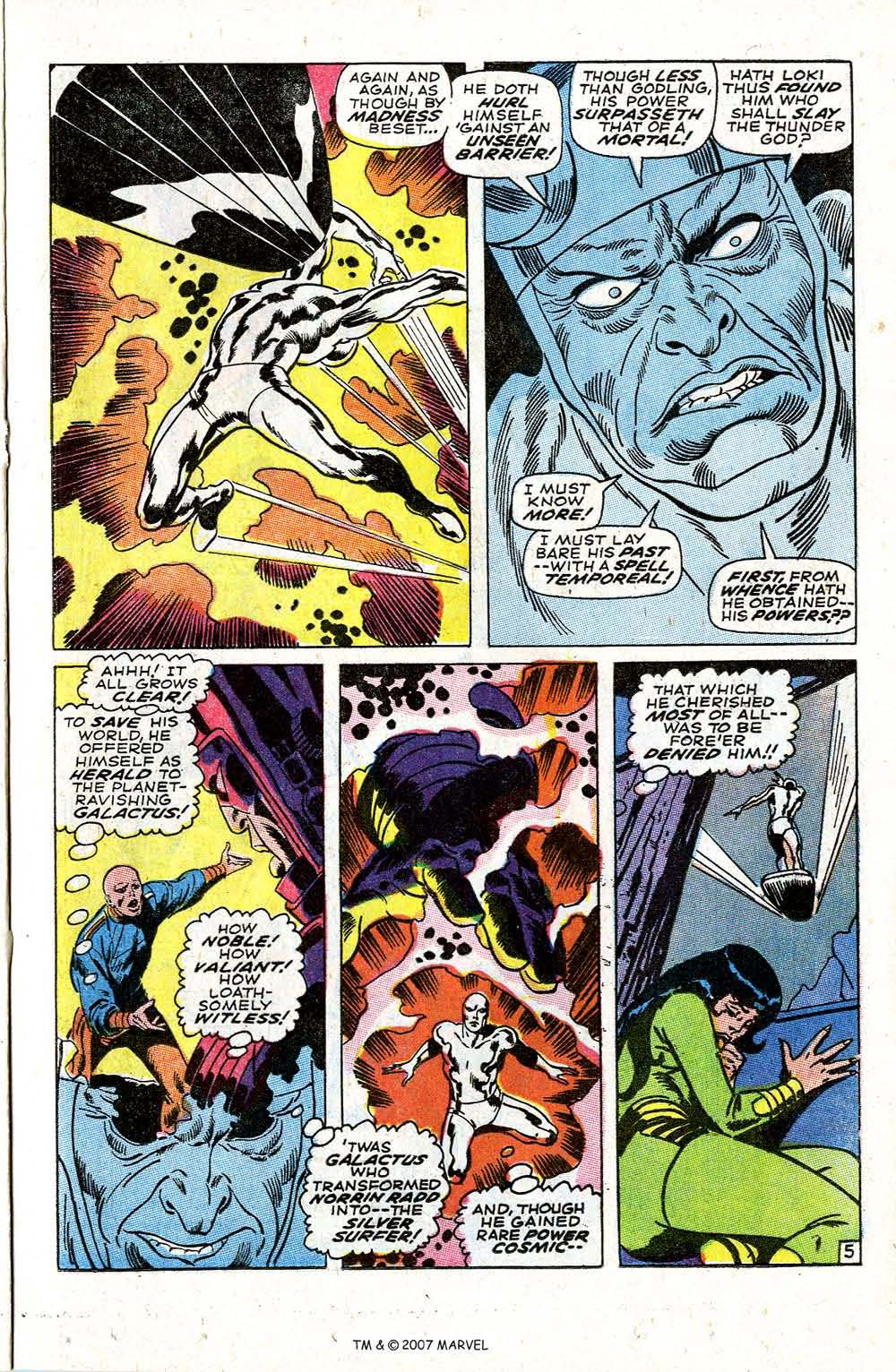 Read online Silver Surfer (1968) comic -  Issue #4 - 7