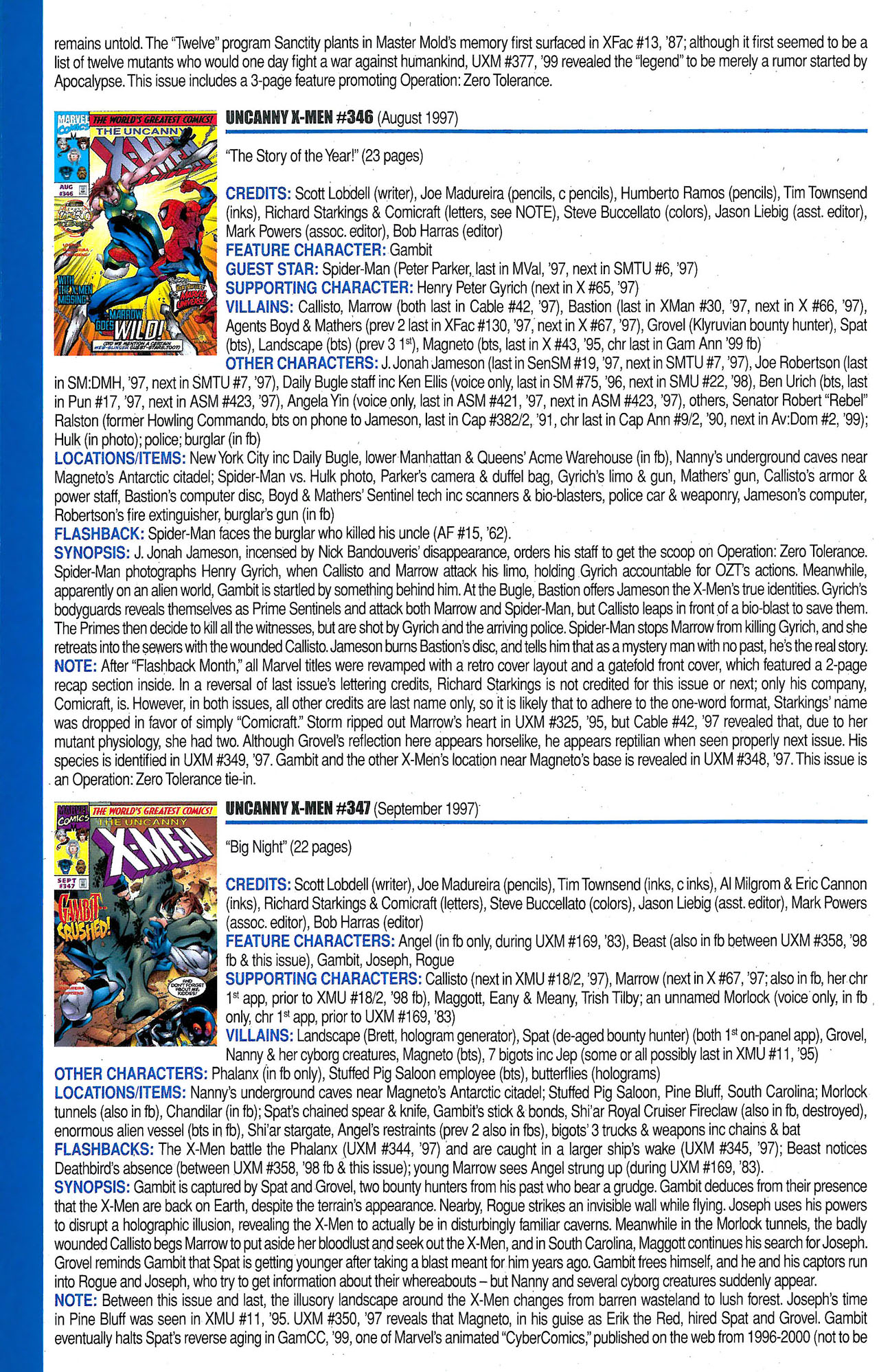 Read online Official Index to the Marvel Universe comic -  Issue #9 - 50