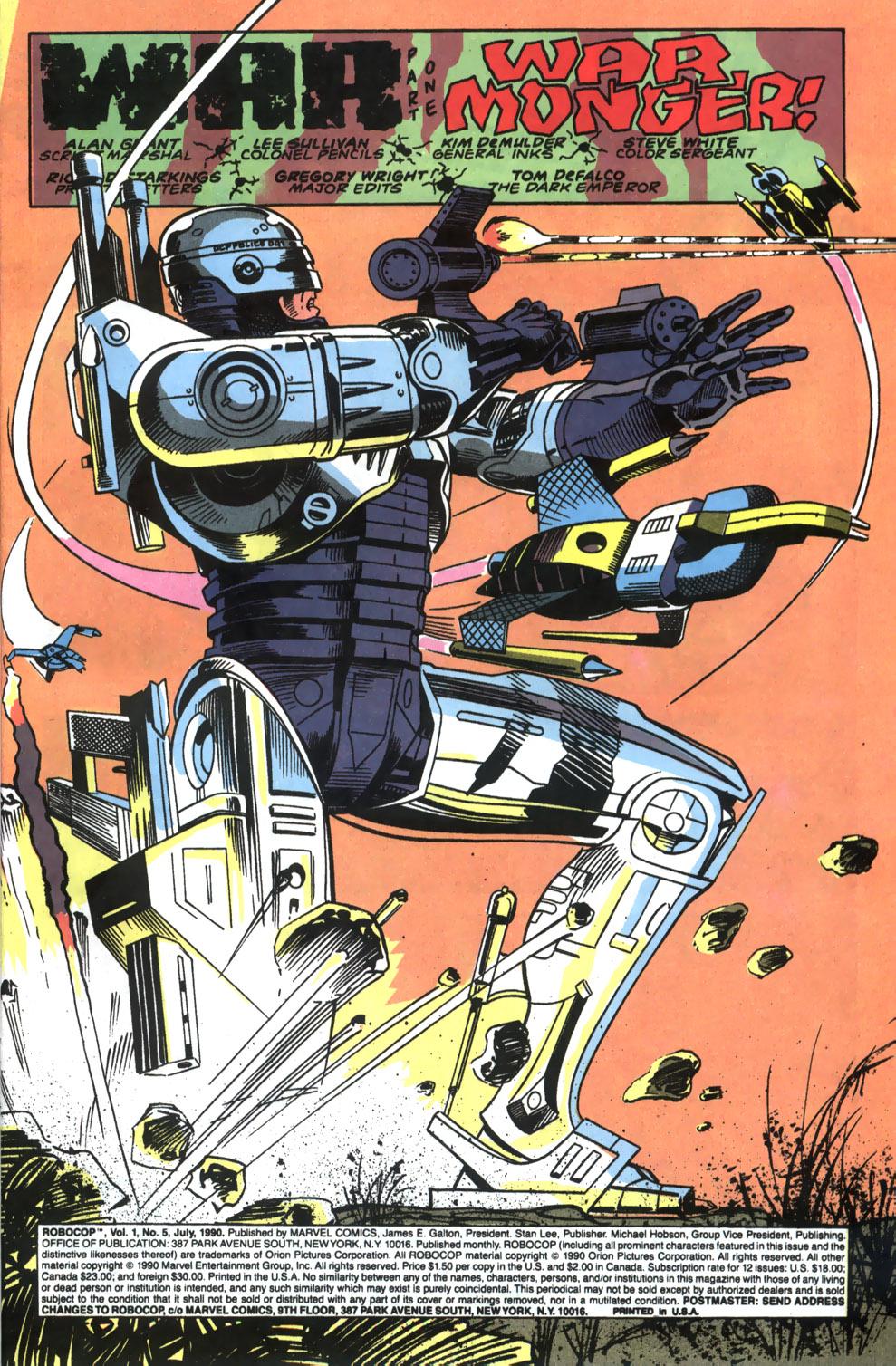 Read online Robocop (1990) comic -  Issue #5 - 2