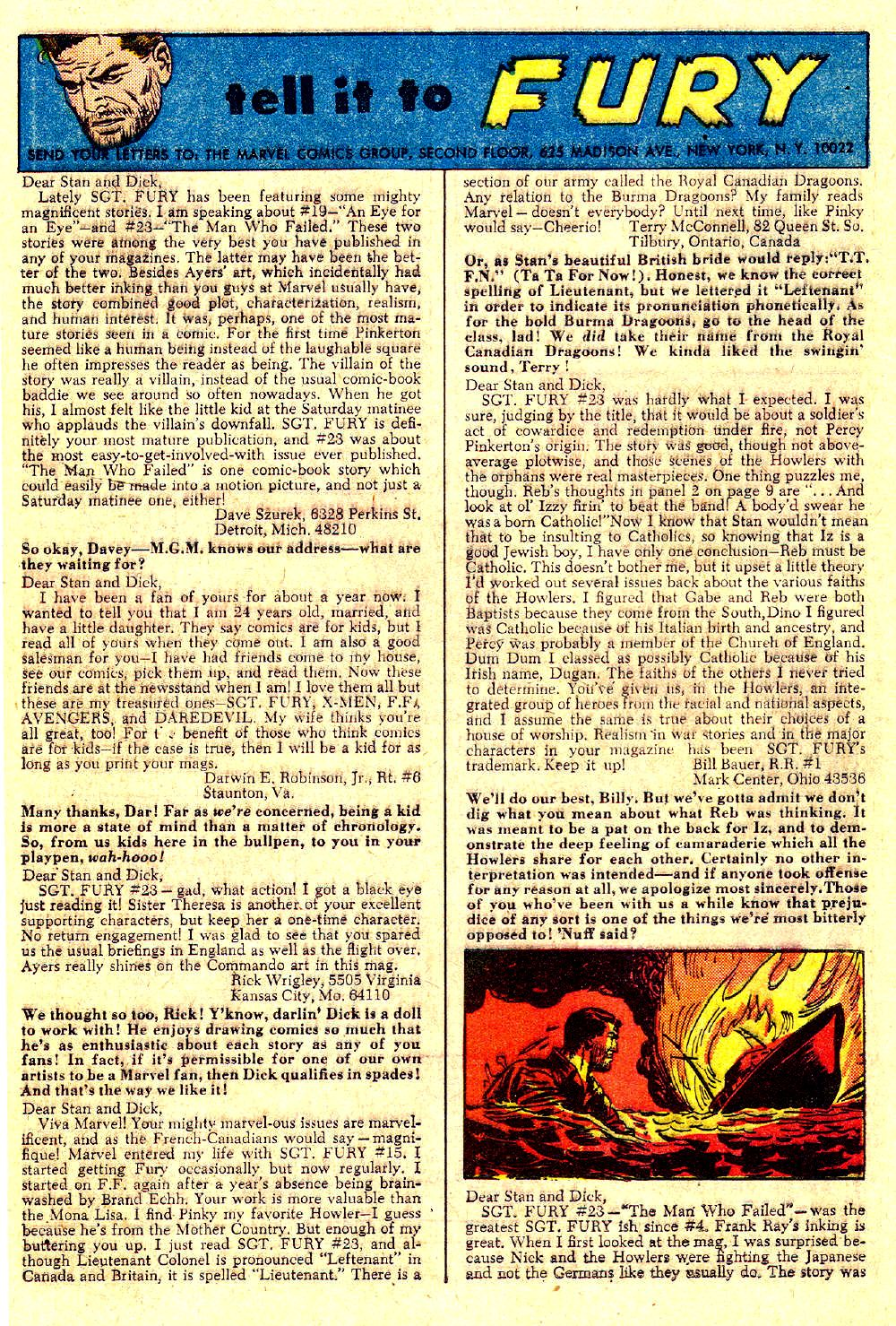 Read online Sgt. Fury comic -  Issue #27 - 32