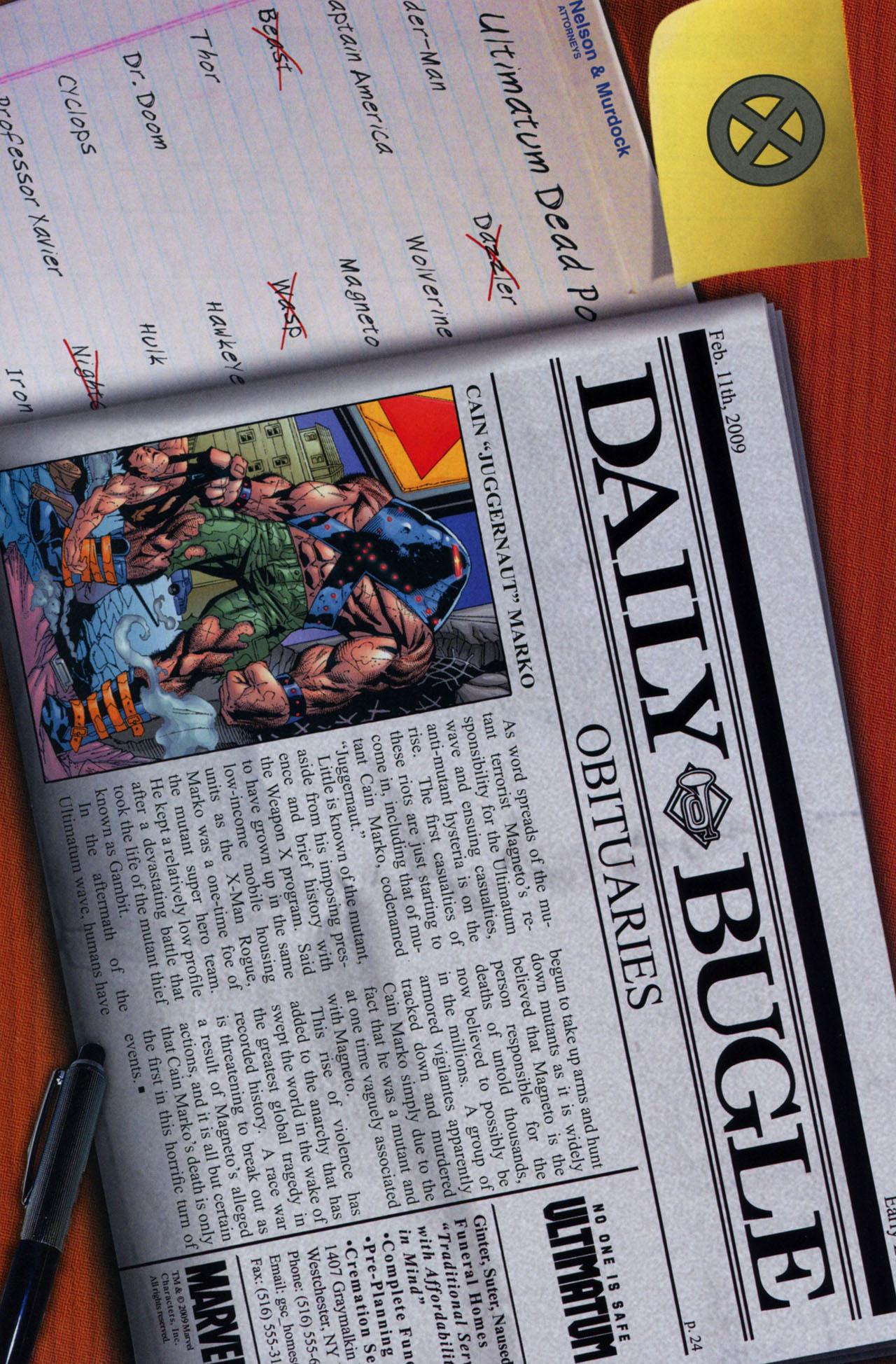 Read online Ultimatum: X-Men Requiem comic -  Issue # Full - 34