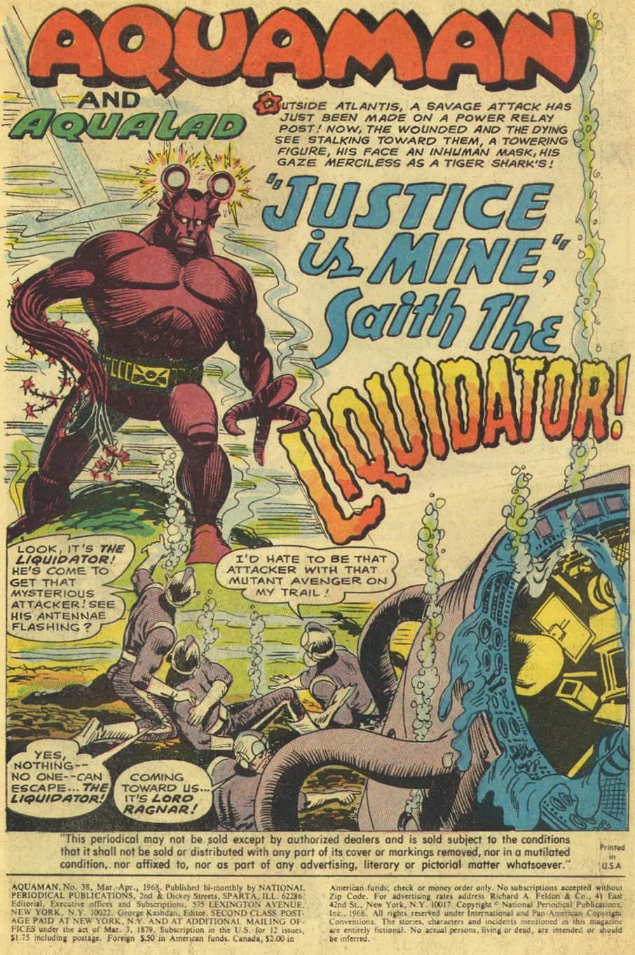 Read online Aquaman (1962) comic -  Issue #38 - 3