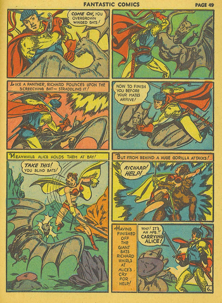 Read online Fantastic Comics comic -  Issue #19 - 40