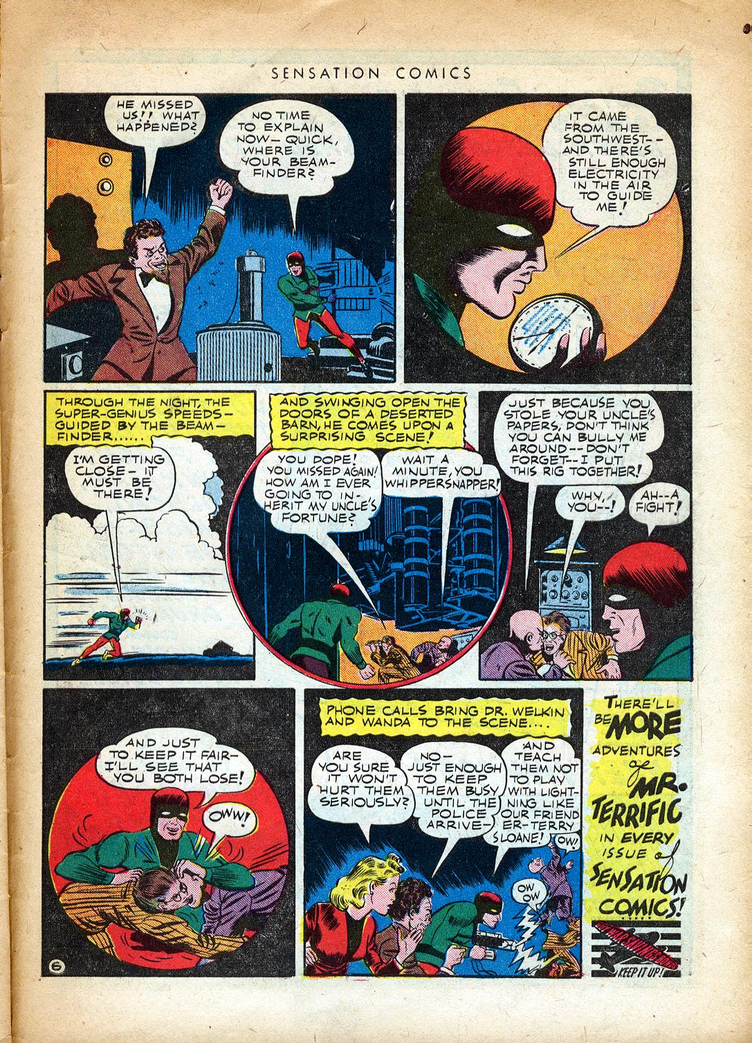 Read online Sensation (Mystery) Comics comic -  Issue #37 - 39