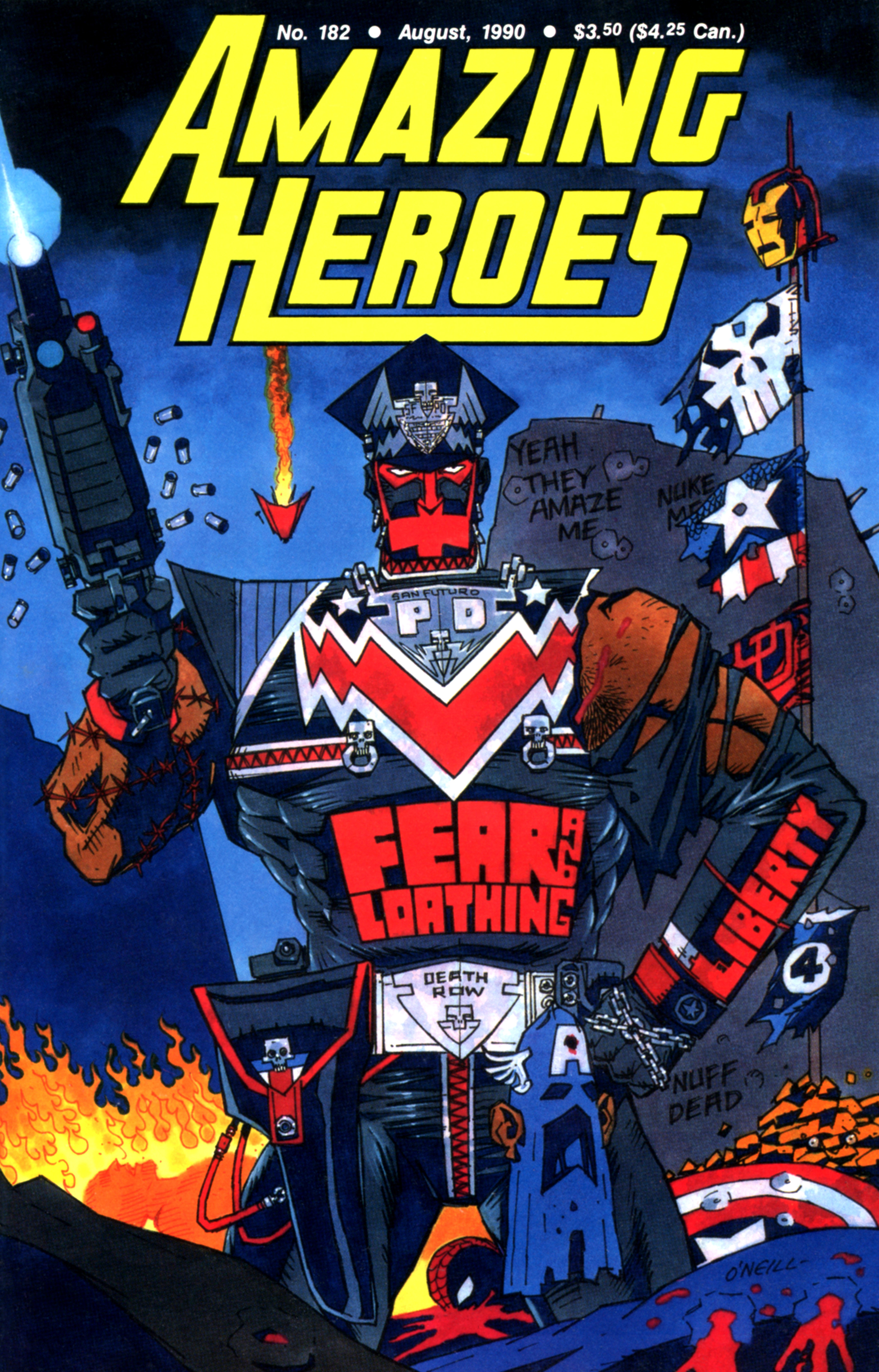 Read online Amazing Heroes comic -  Issue #182 - 1