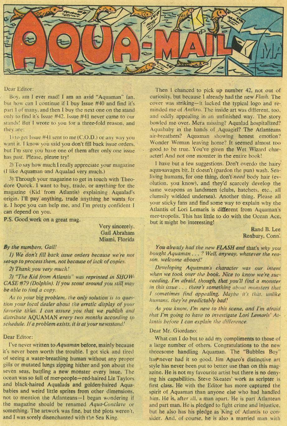 Read online Aquaman (1962) comic -  Issue #44 - 20