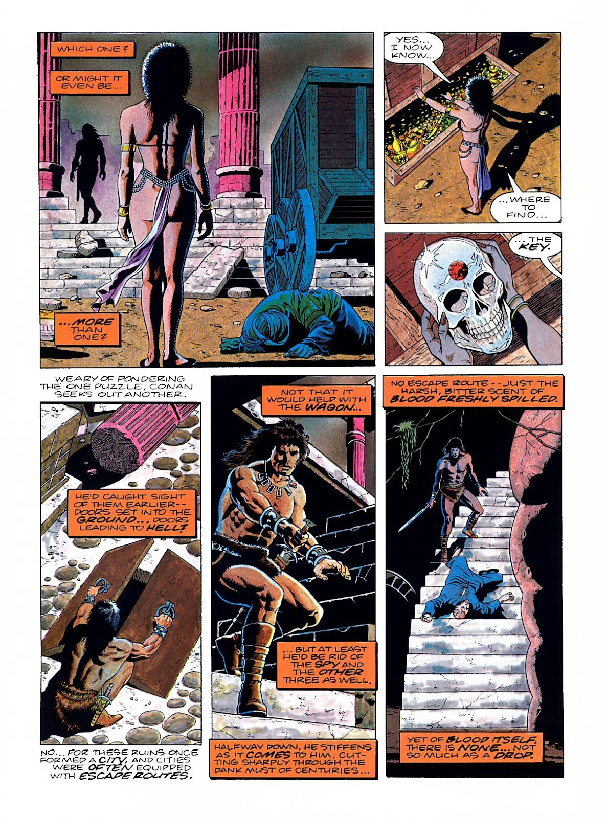 Read online Marvel Graphic Novel: Conan the Barbarian: The Skull of Set comic -  Issue # Full - 38