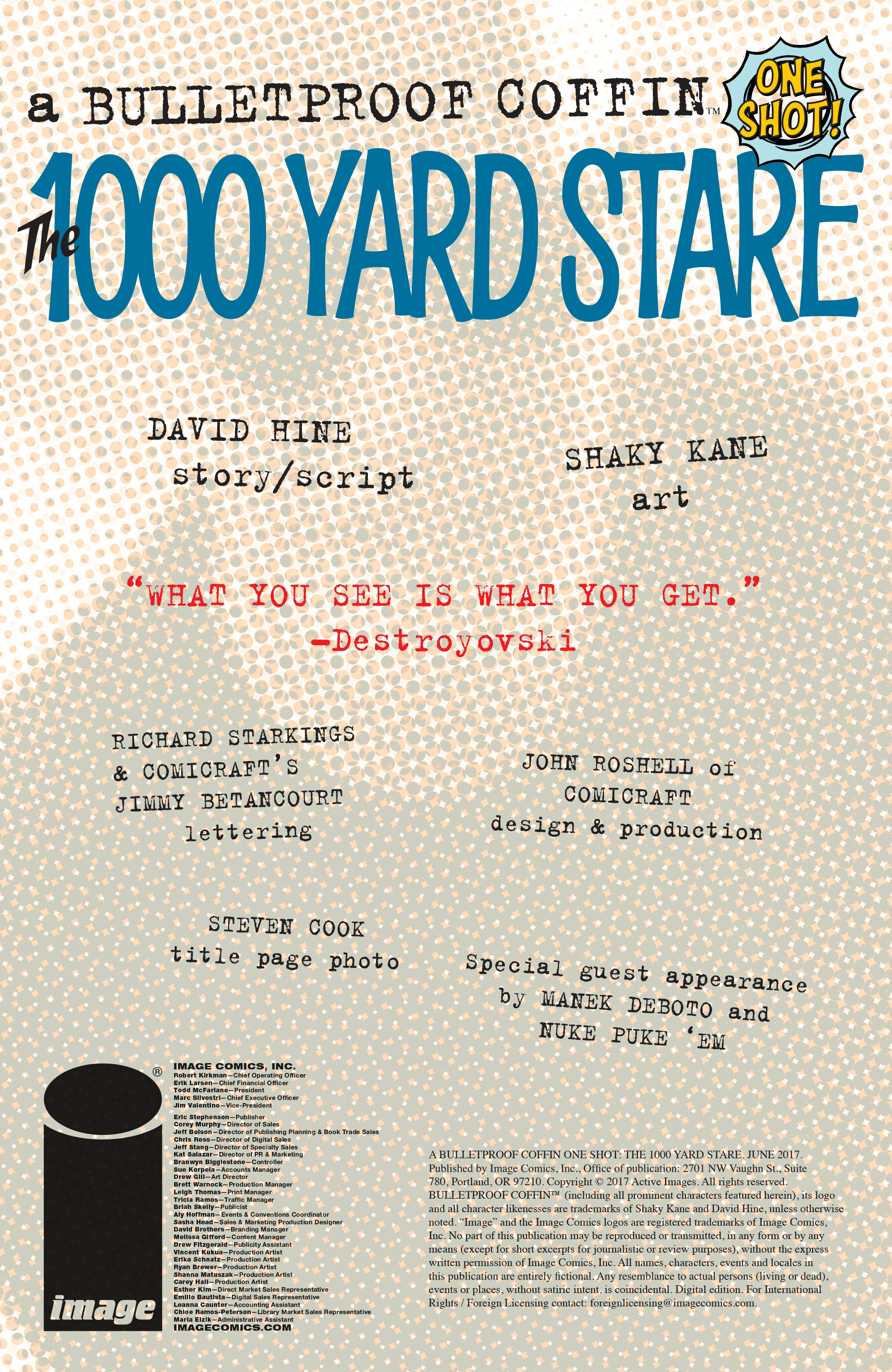 Read online Bulletproof Coffin: The Thousand Yard Stare comic -  Issue # Full - 2