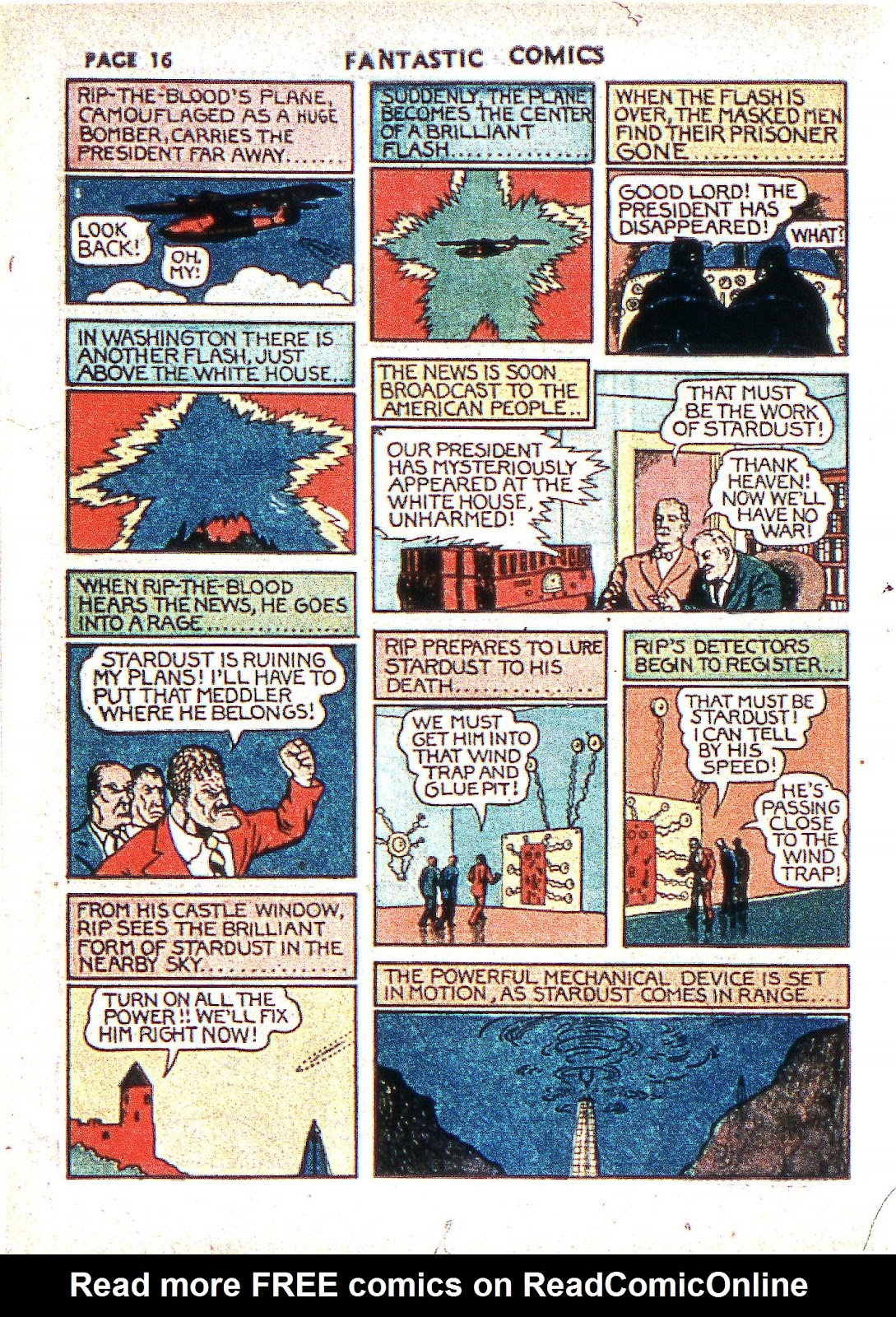 Read online Fantastic Comics comic -  Issue #2 - 18