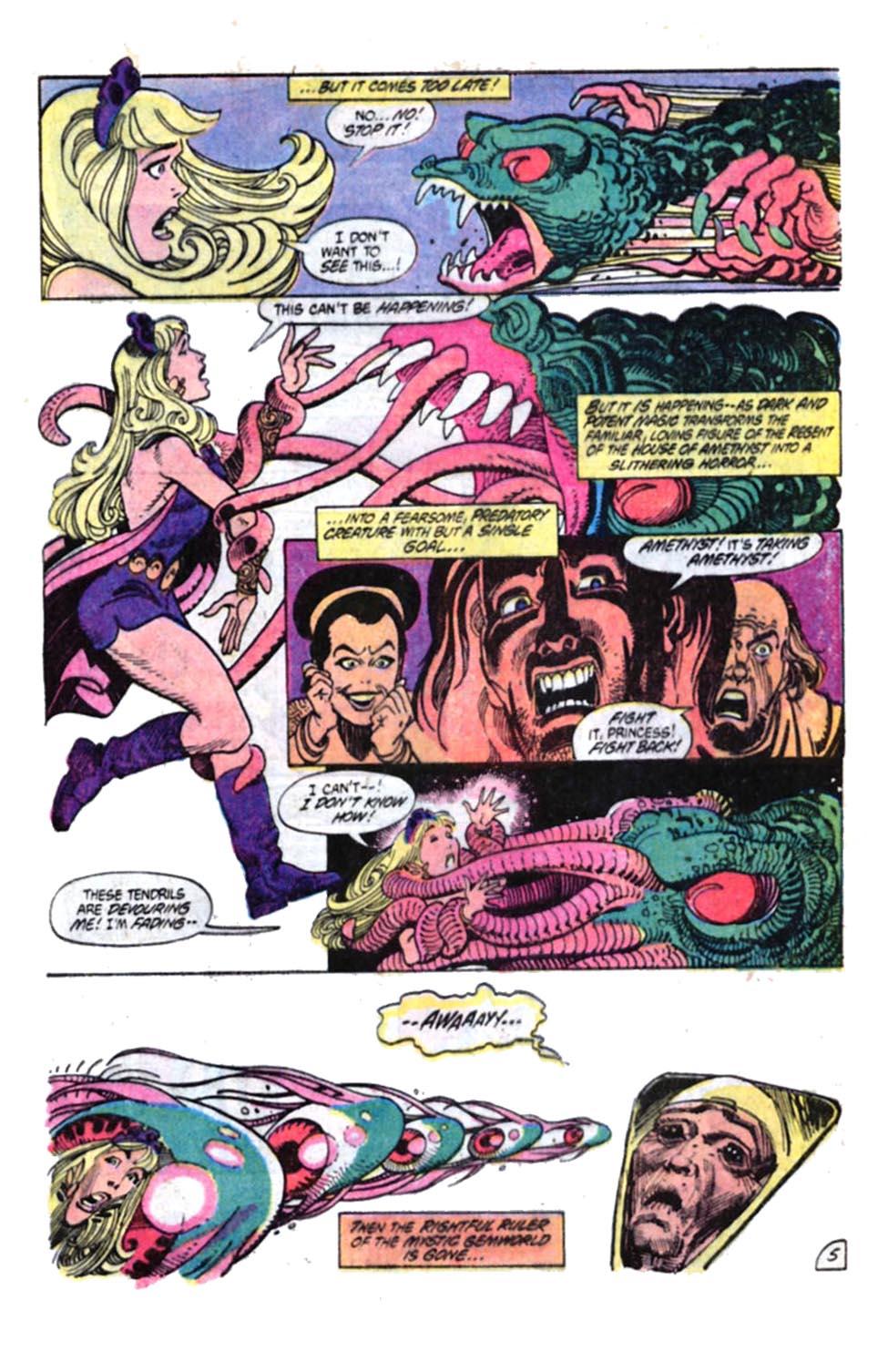 Read online Amethyst, Princess of Gemworld comic -  Issue #4 - 6