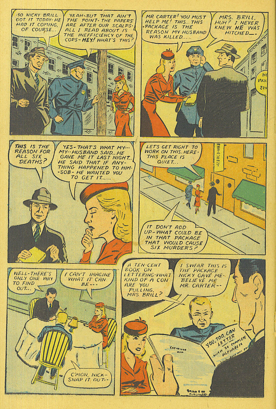 Read online Shadow Comics comic -  Issue #71 - 17