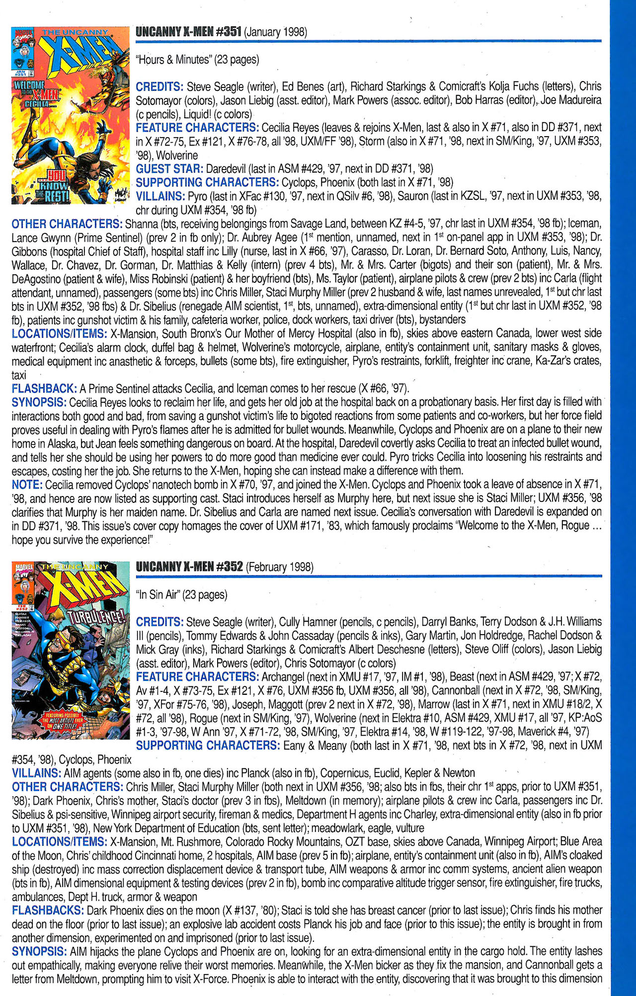 Read online Official Index to the Marvel Universe comic -  Issue #9 - 53