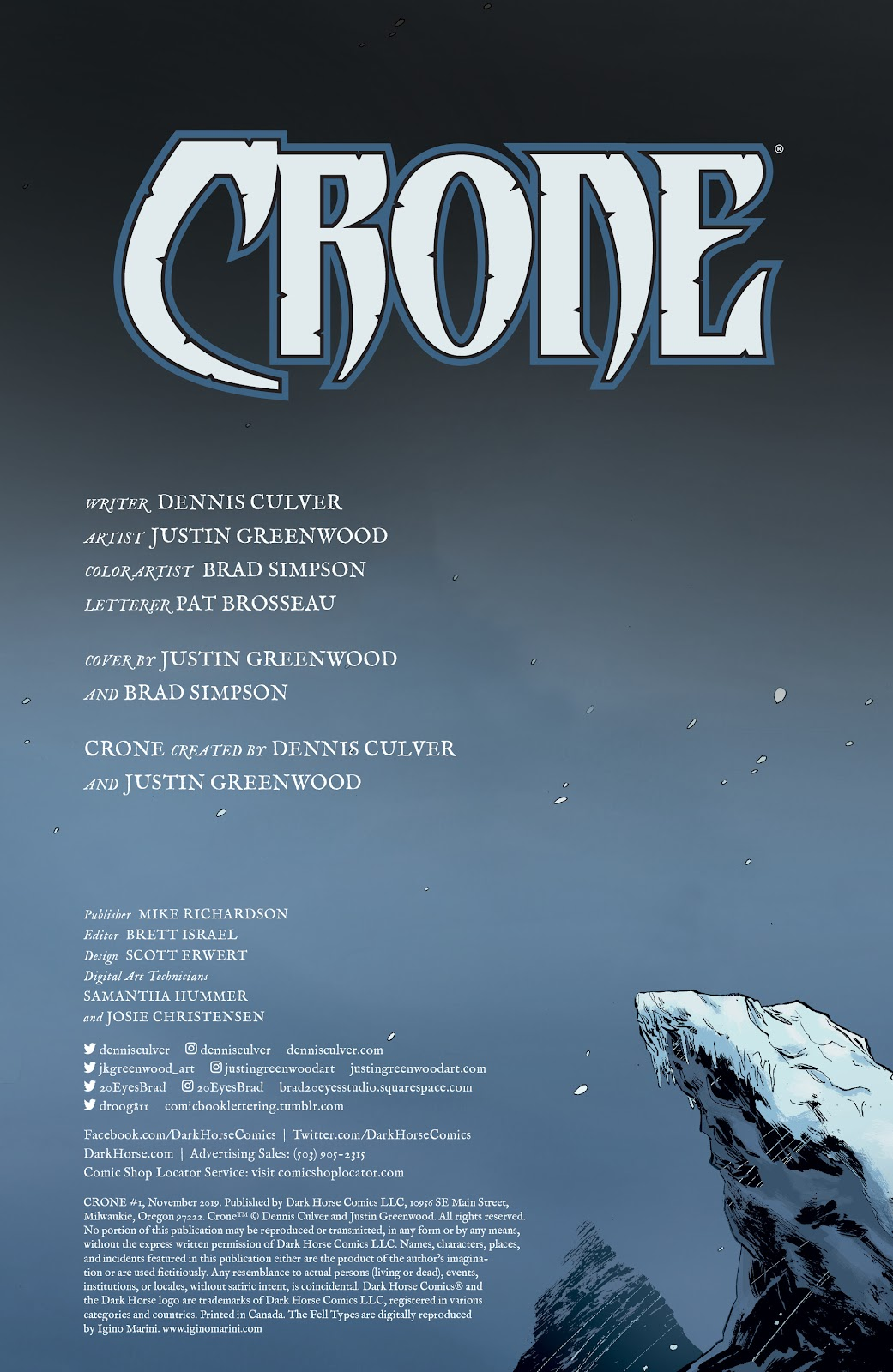 Read online Crone comic -  Issue #1 - 2