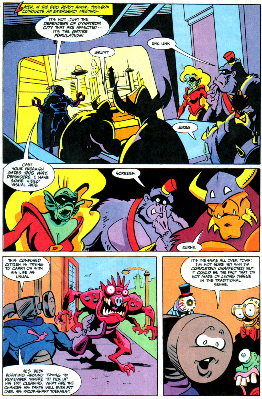 Read online Defenders of Dynatron City comic -  Issue #6 - 7