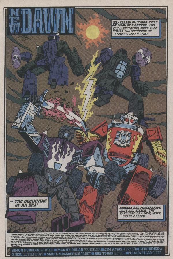 Read online Transformers: Generation 2 comic -  Issue #7 - 2