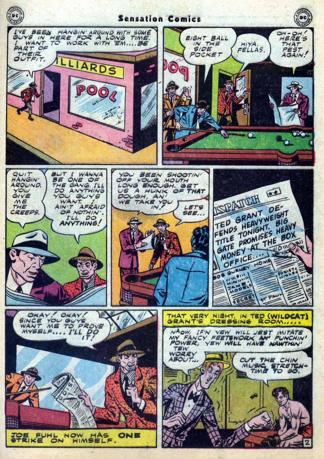 Read online Sensation (Mystery) Comics comic -  Issue #59 - 43