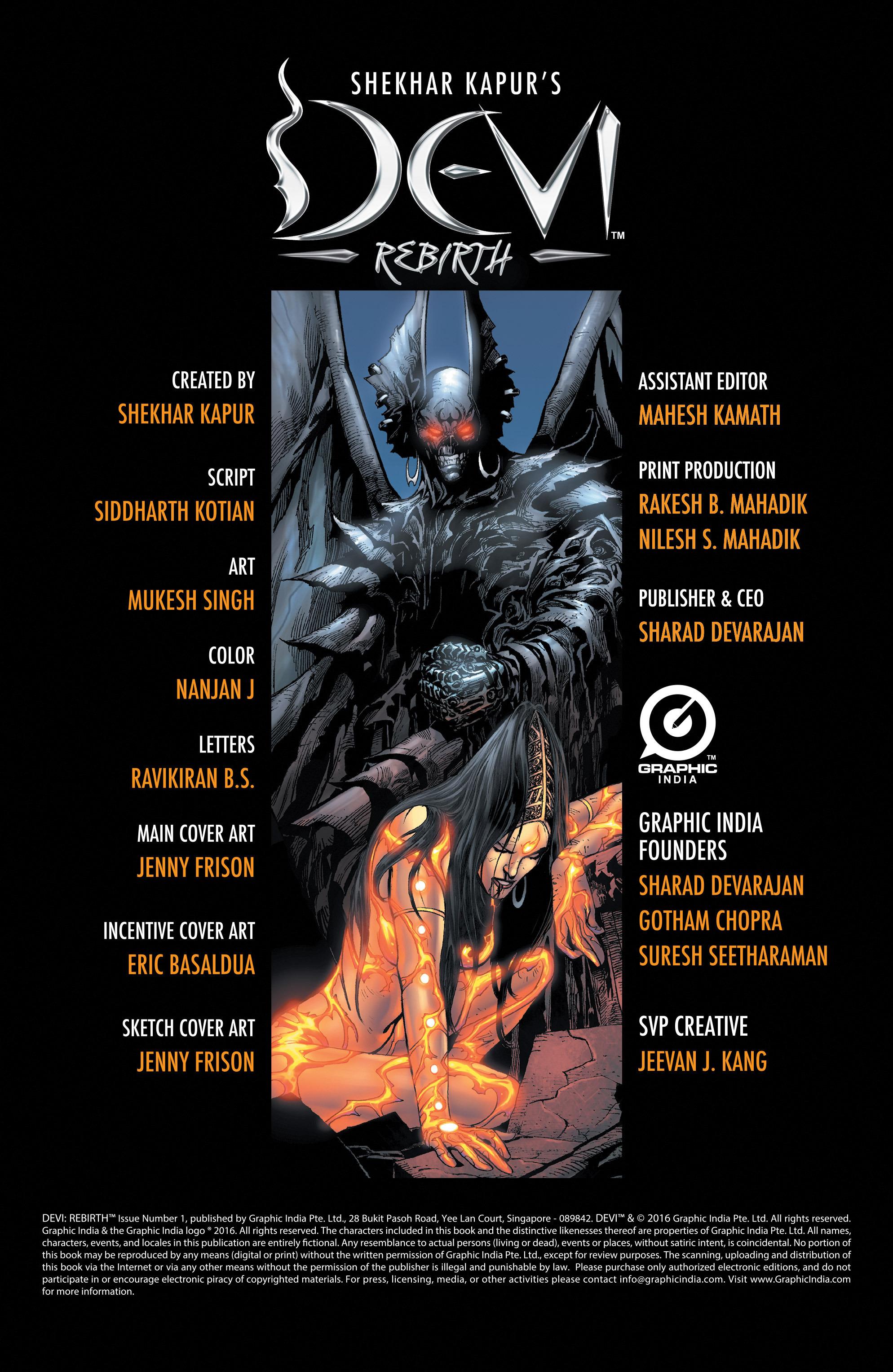 Read online Shekhar Kapur's Devi: Rebirth comic -  Issue #1 - 2