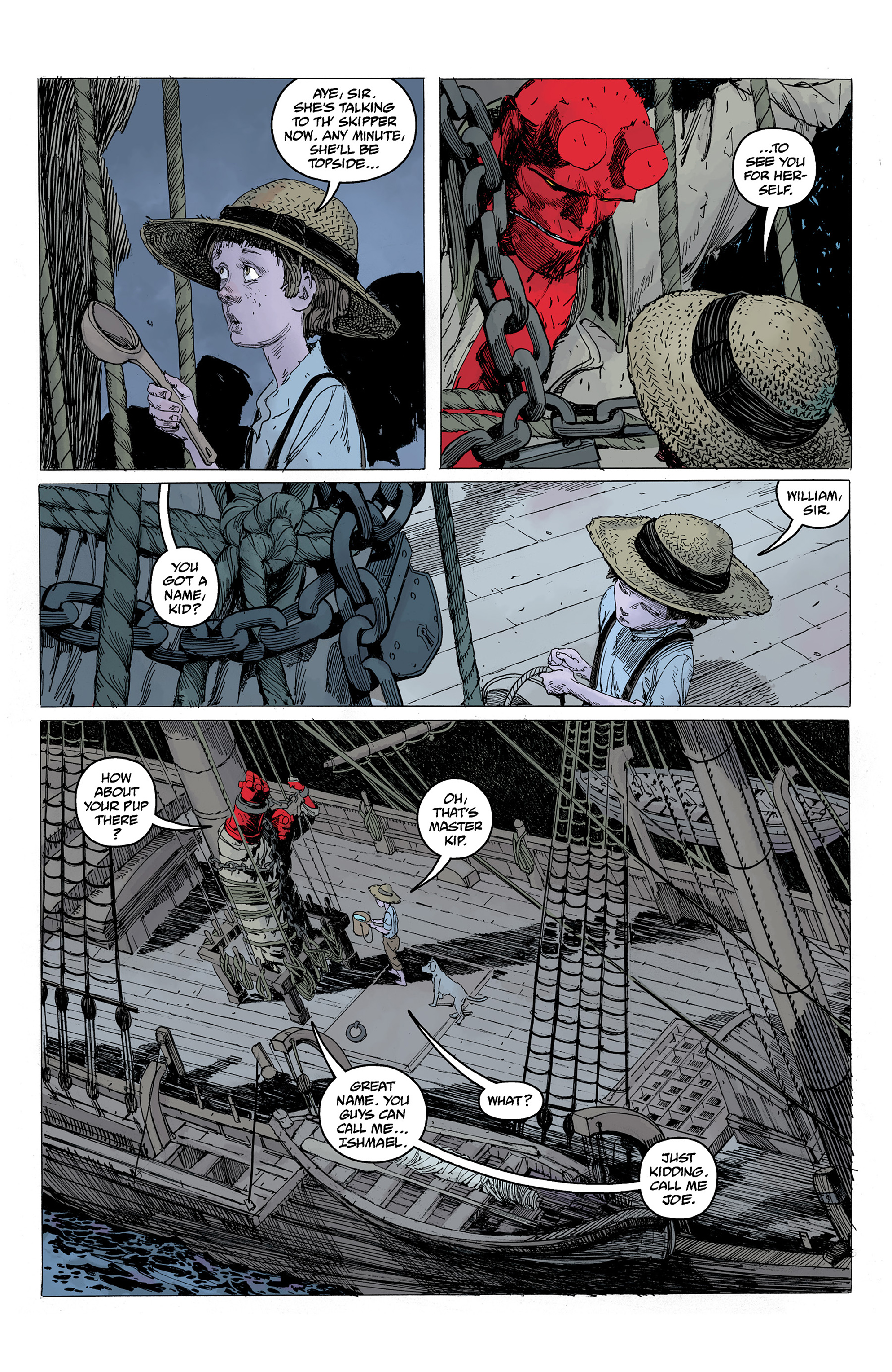 Read online Hellboy: Into the Silent Sea comic -  Issue # Full - 22