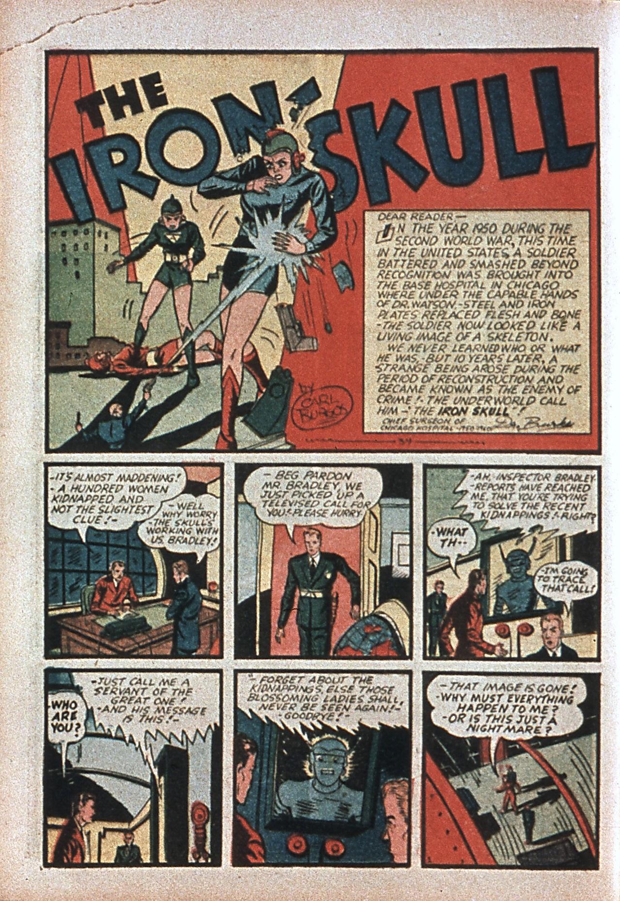 Read online Amazing Man Comics comic -  Issue #7 - 21