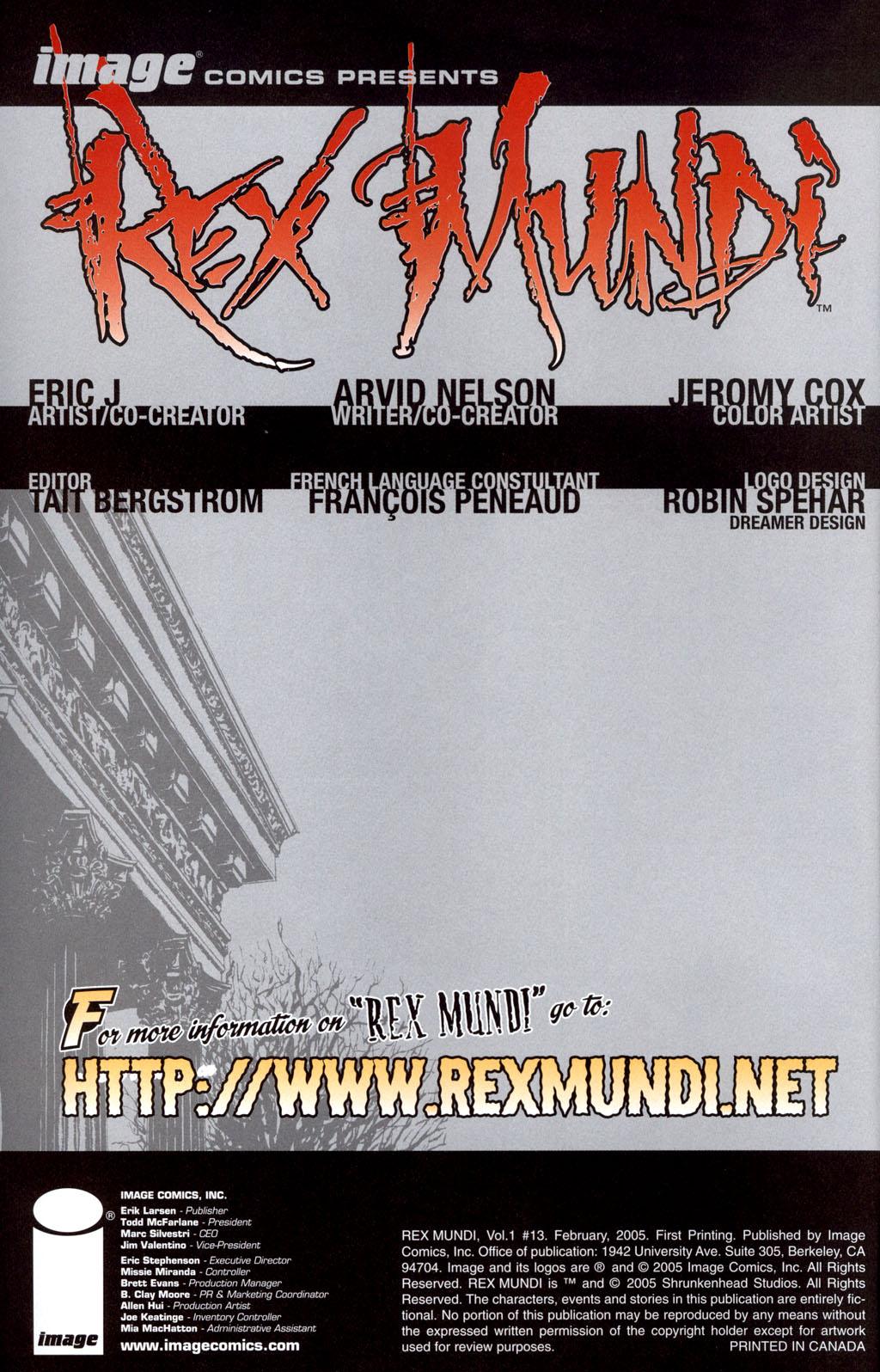 Read online Rex Mundi comic -  Issue #13 - 2