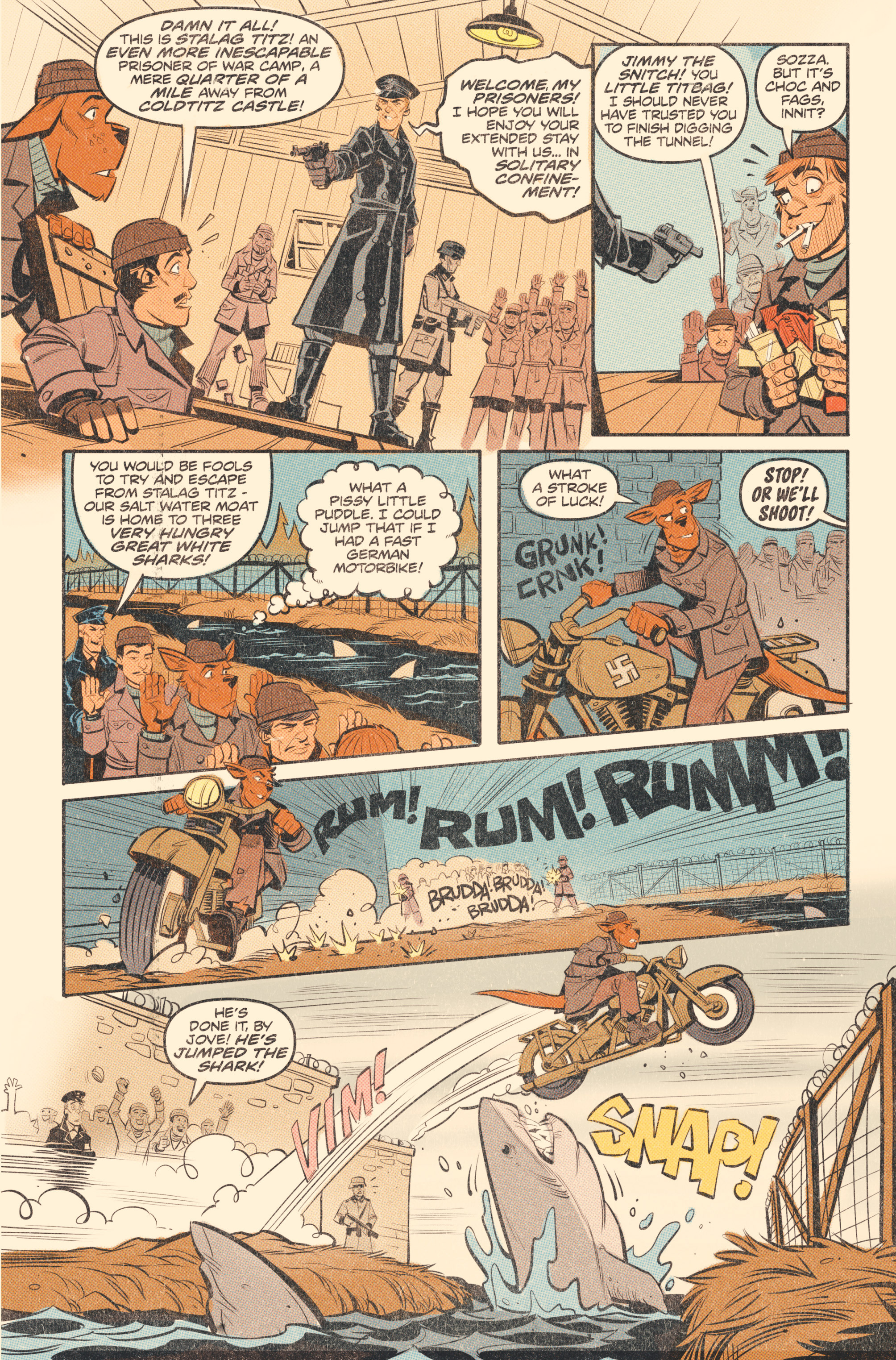 Read online Tank Girl: World War Tank Girl comic -  Issue #2 - 13