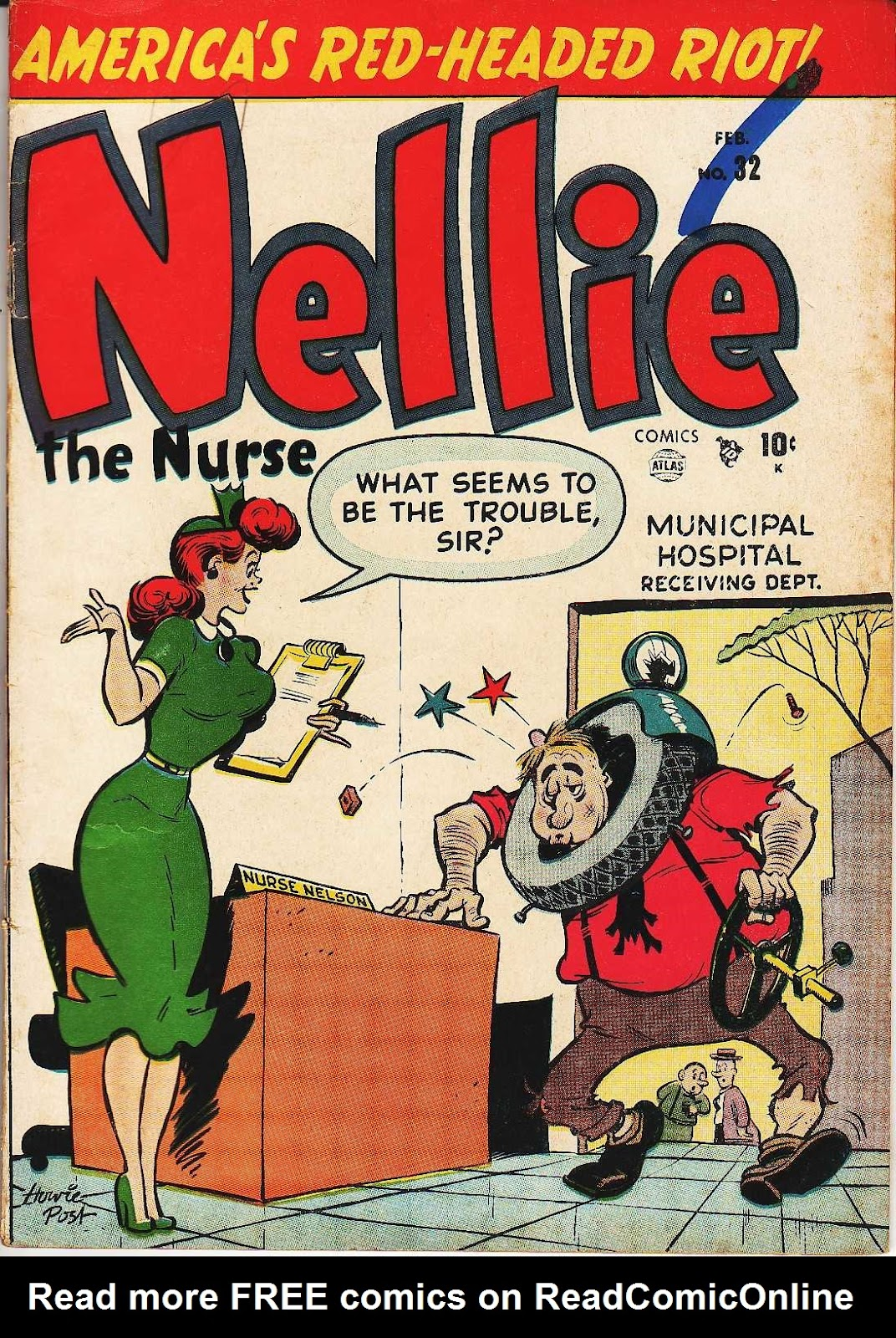 Read online Nellie The Nurse (1945) comic -  Issue #32 - 1