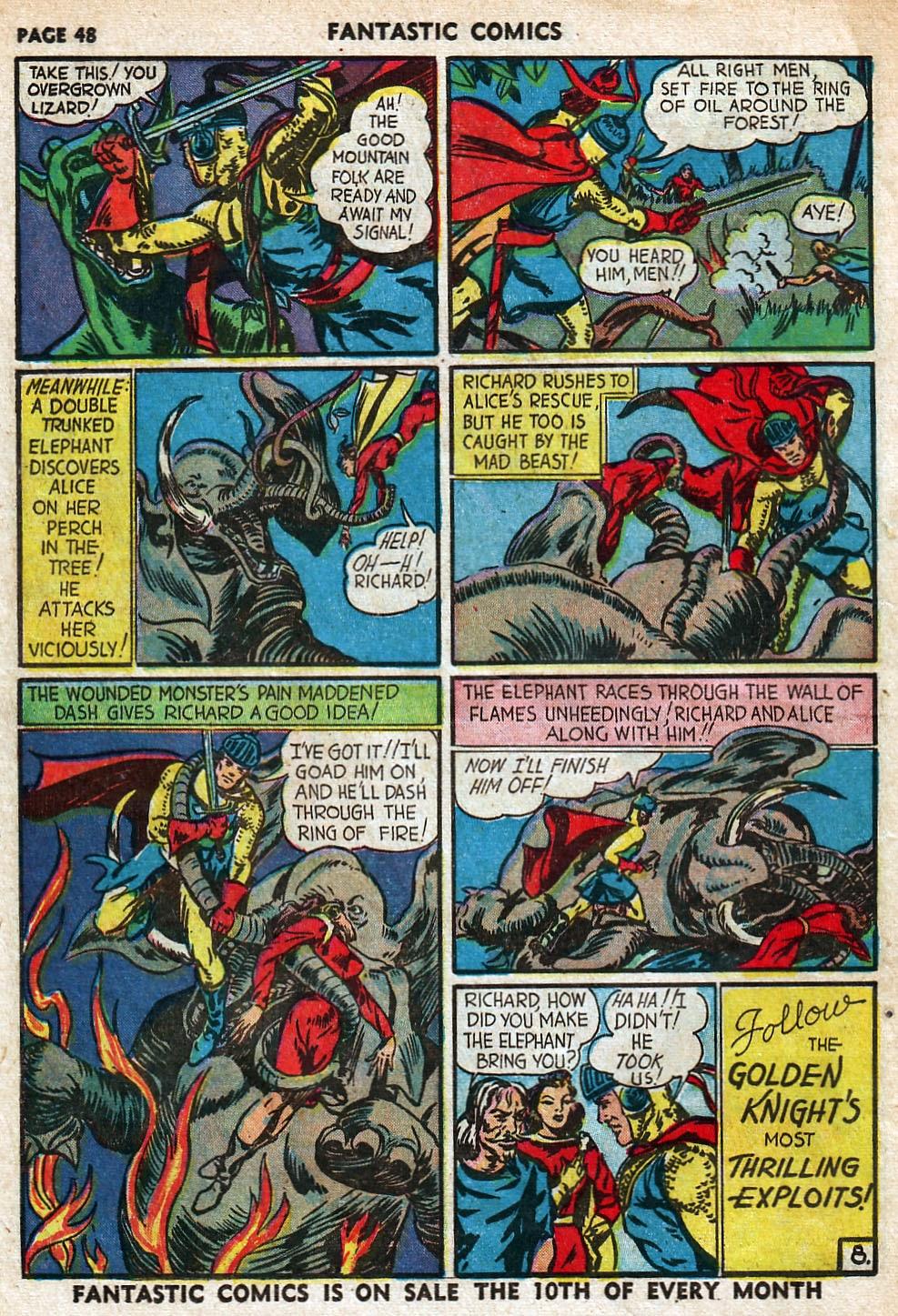 Read online Fantastic Comics comic -  Issue #18 - 50